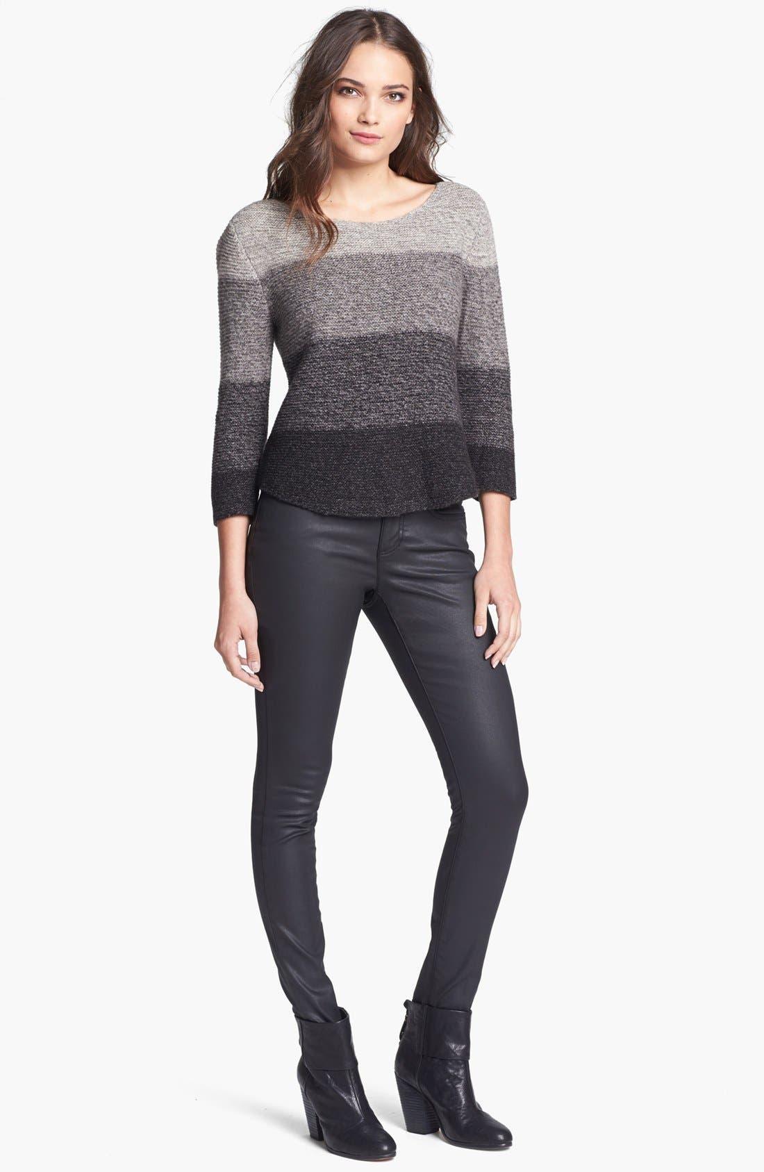 Alternate Image 4  - Eileen Fisher Waxed Denim Skinny Jeans