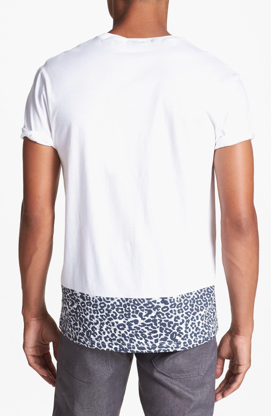Alternate Image 2  - Topman Leopard Print Trim T-Shirt