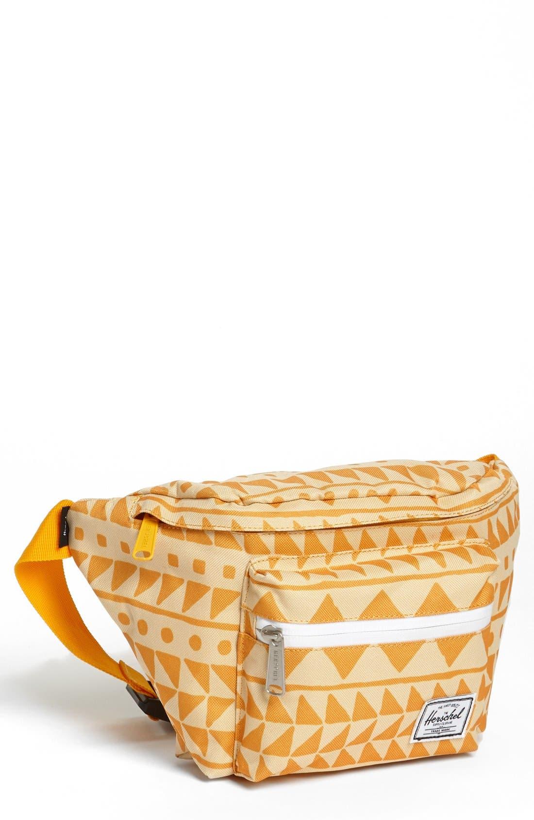 'Seventeen' Belt Bag,                             Main thumbnail 1, color,                             Chevron Butterscotch