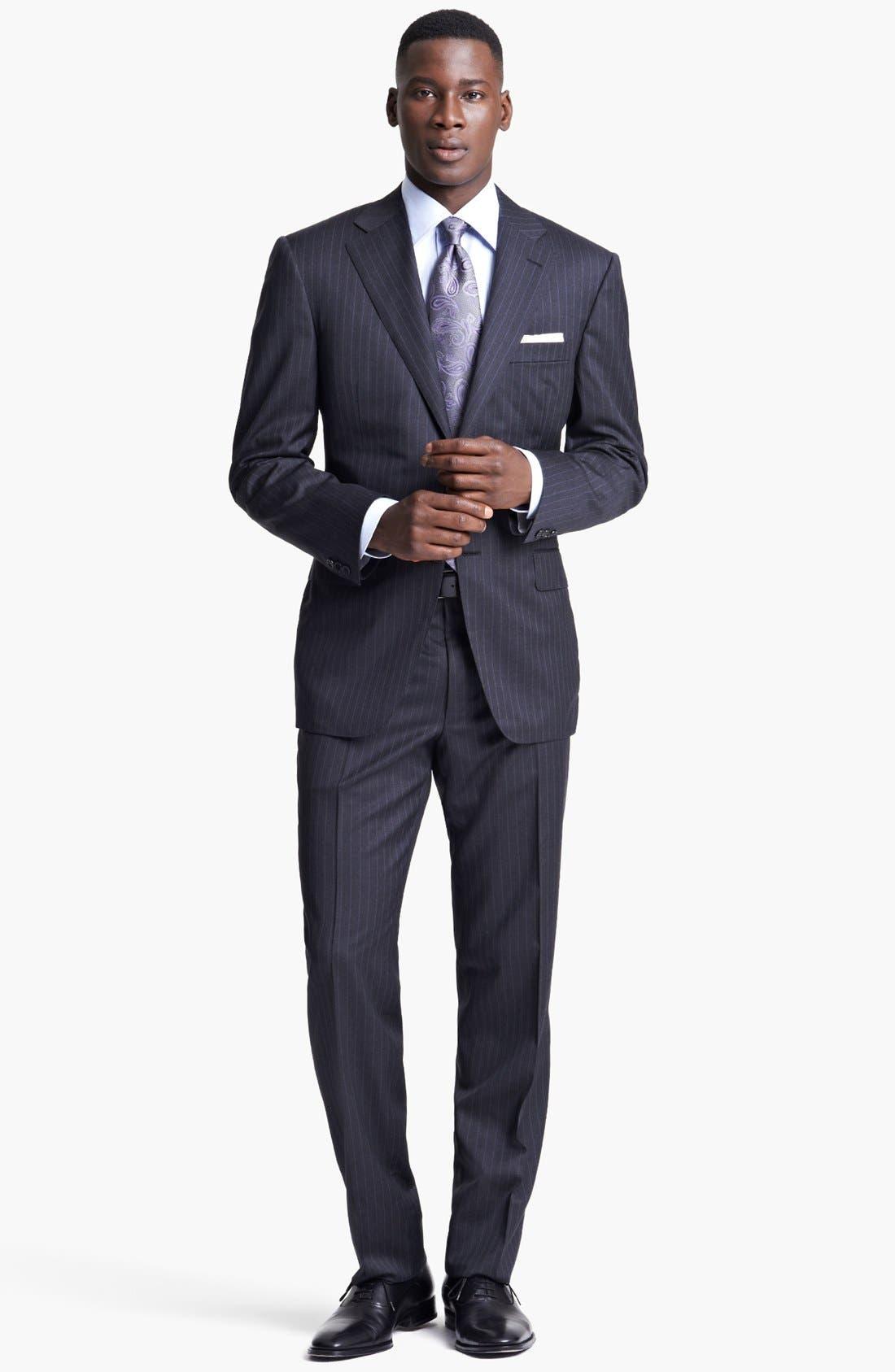 Main Image - Canali Classic Fit Stripe Suit