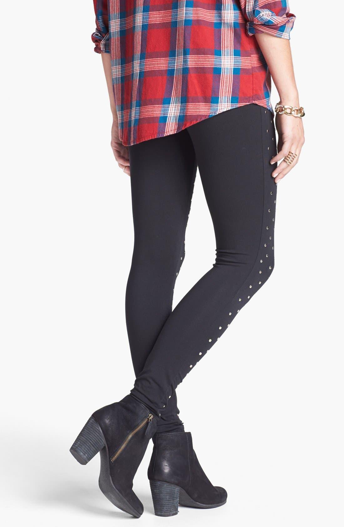 Alternate Image 2  - BP. Studded Leggings (Juniors)