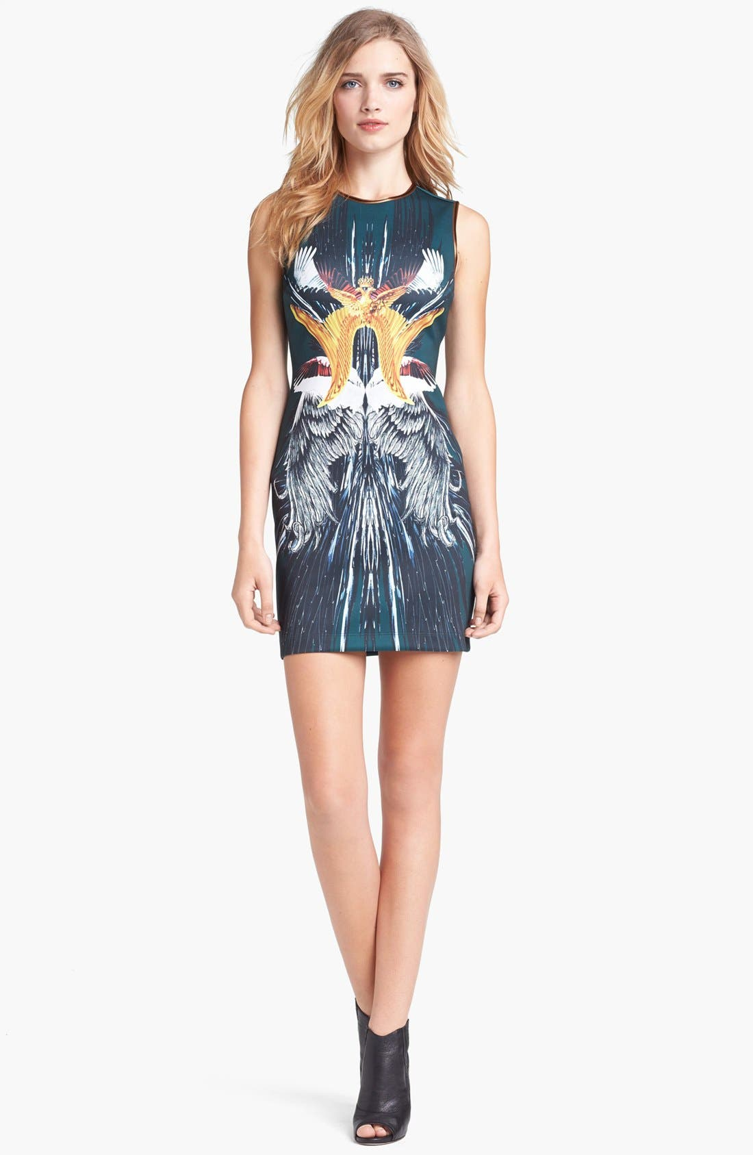 Alternate Image 1 Selected - Clover Canyon 'Wings' Stretch Body-Con Dress