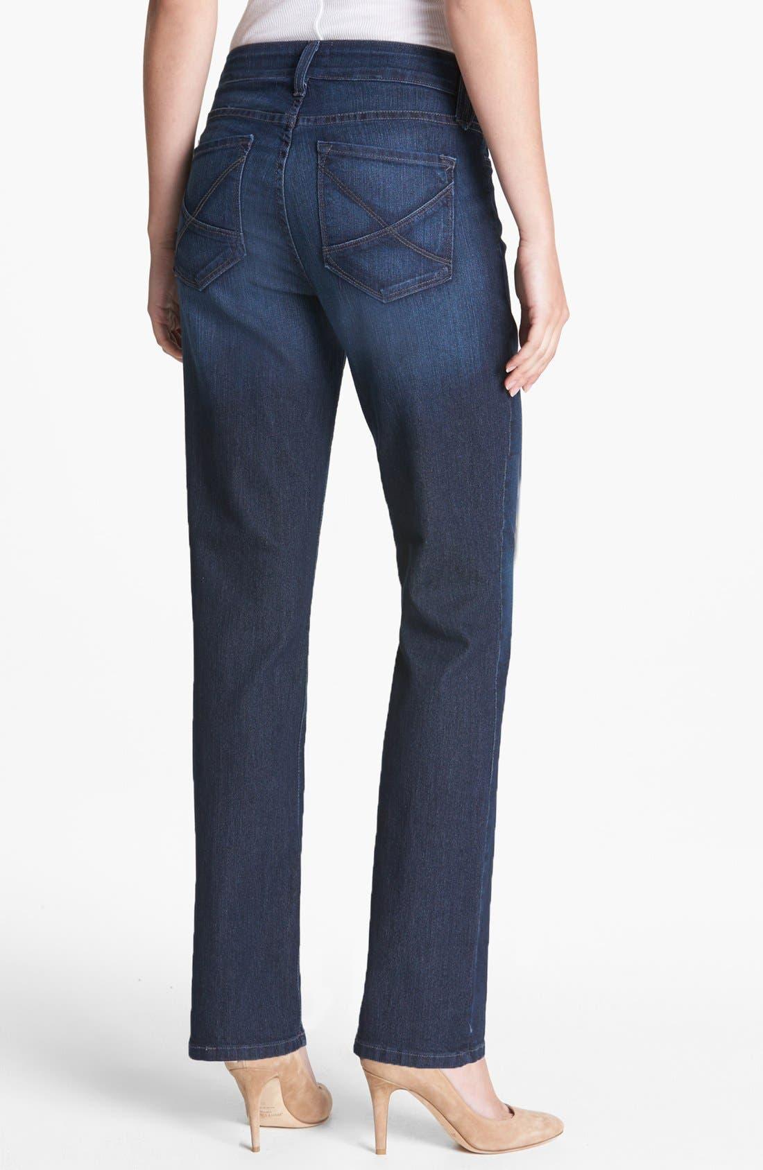 Alternate Image 3  - NYDJ 'Hayden' Stretch Straight Leg Jeans (Burbank) (Short)