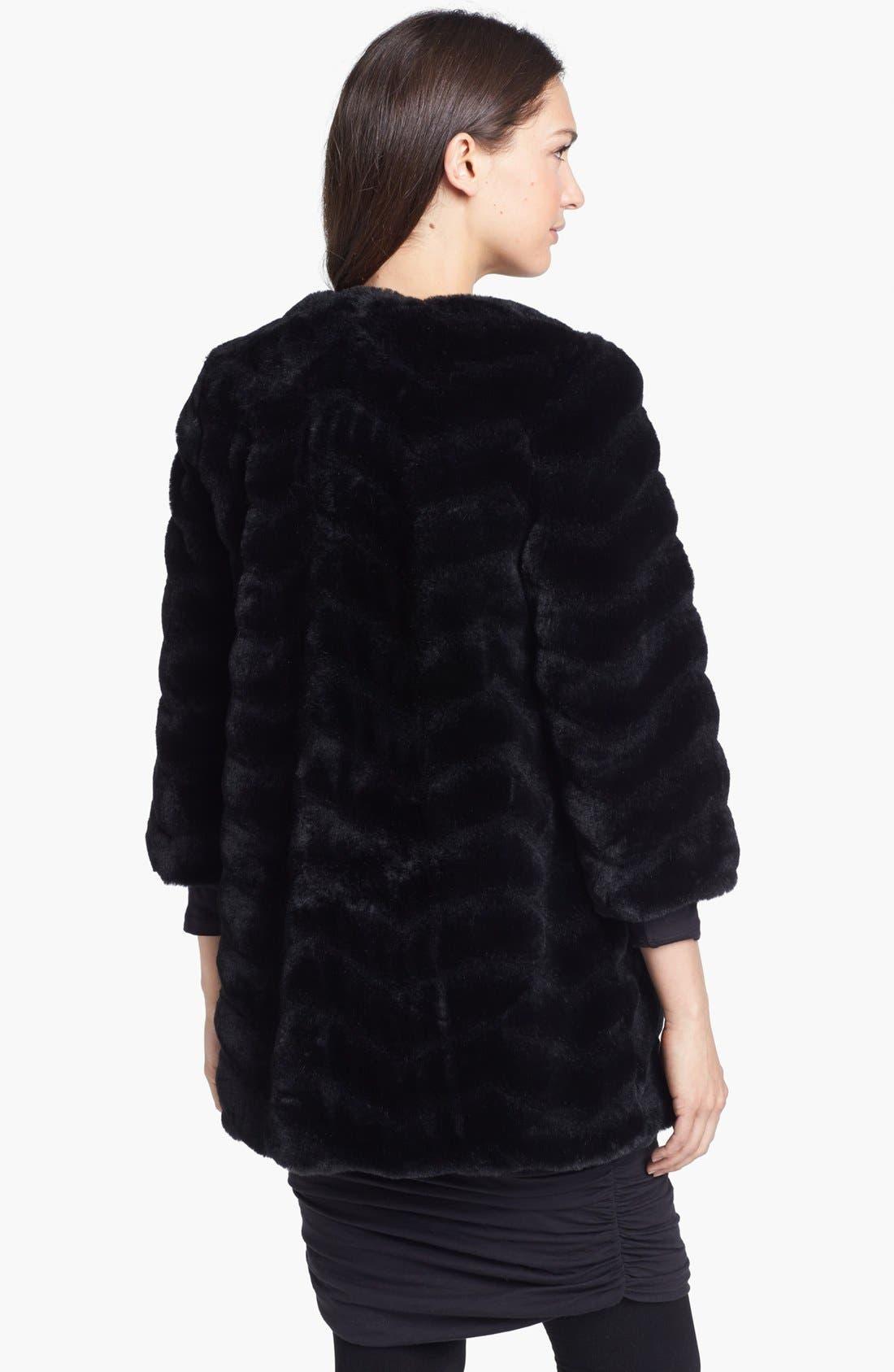 Alternate Image 2  - Sam Edelman Chevron Faux Fur Coat