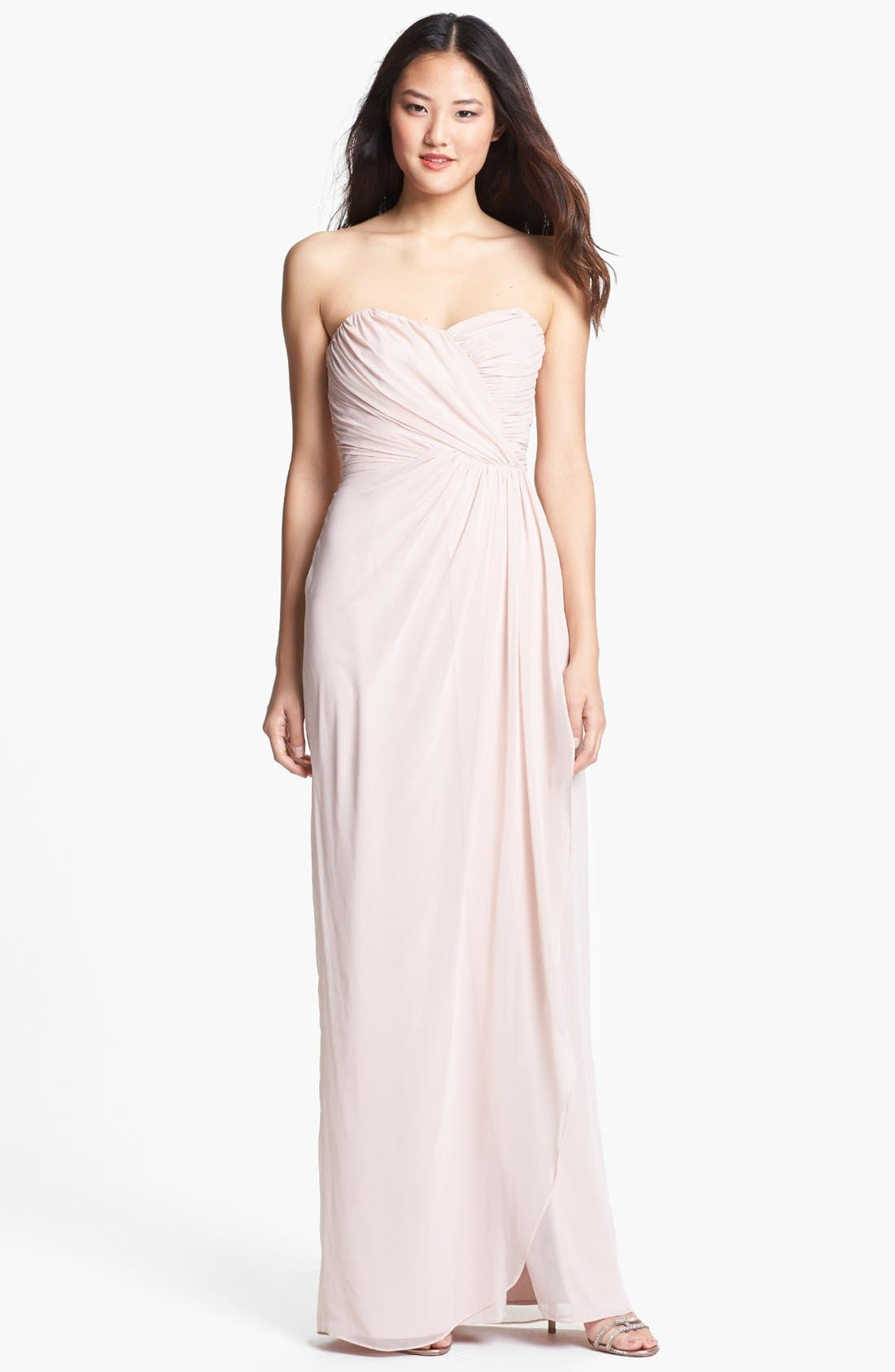 Alternate Image 1 Selected - Dessy Collection Draped Chiffon Gown
