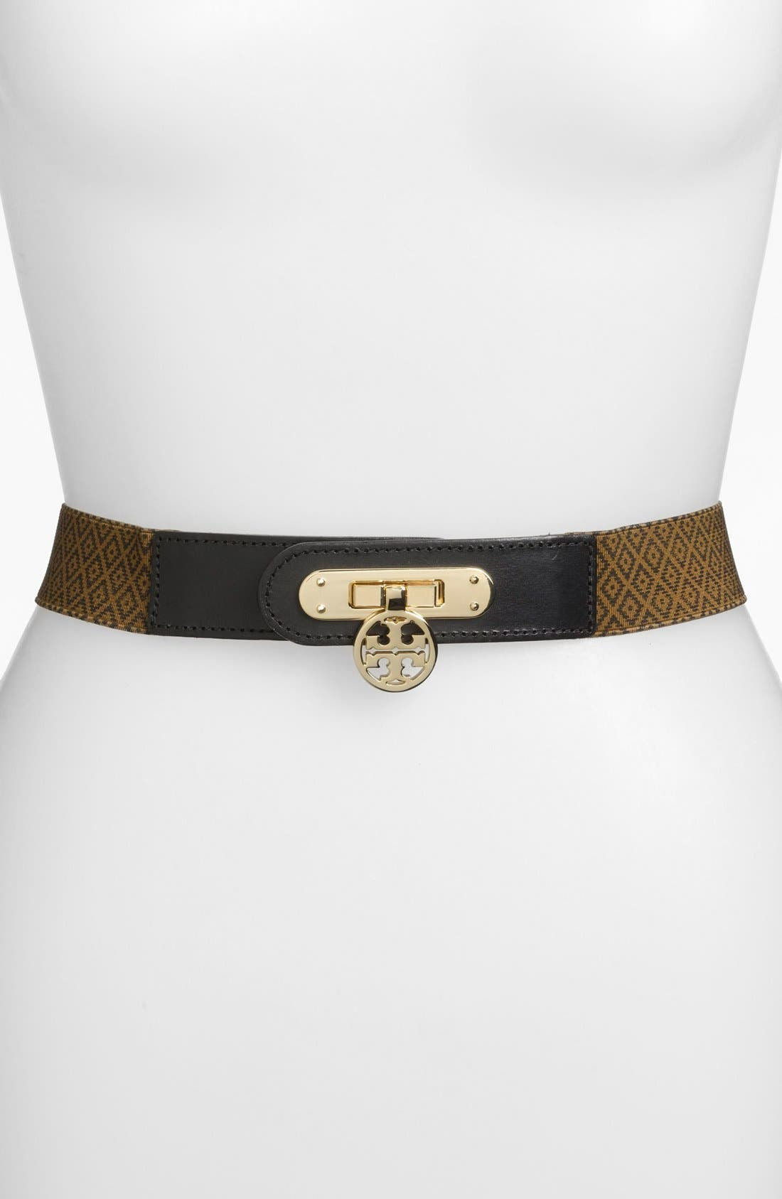 Main Image - Tory Burch 'Daria' Printed Stretch Belt
