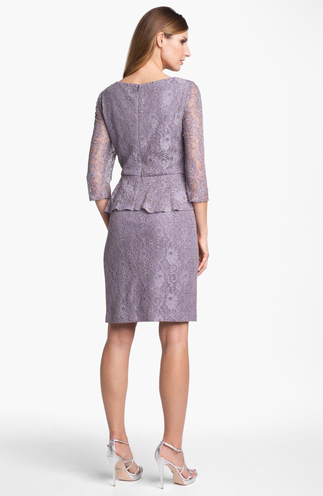 Alternate Image 2  - Patra Embellished Lace Peplum Dress