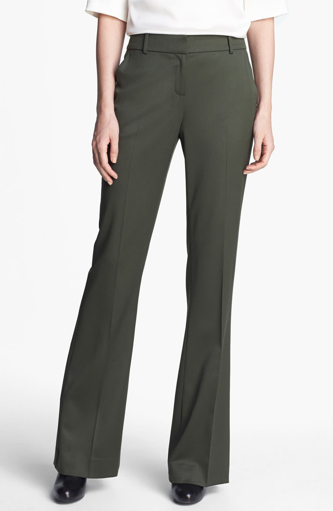 Alternate Image 1 Selected - St. John Collection 'Annabel' Bootcut Venetian Wool Pants