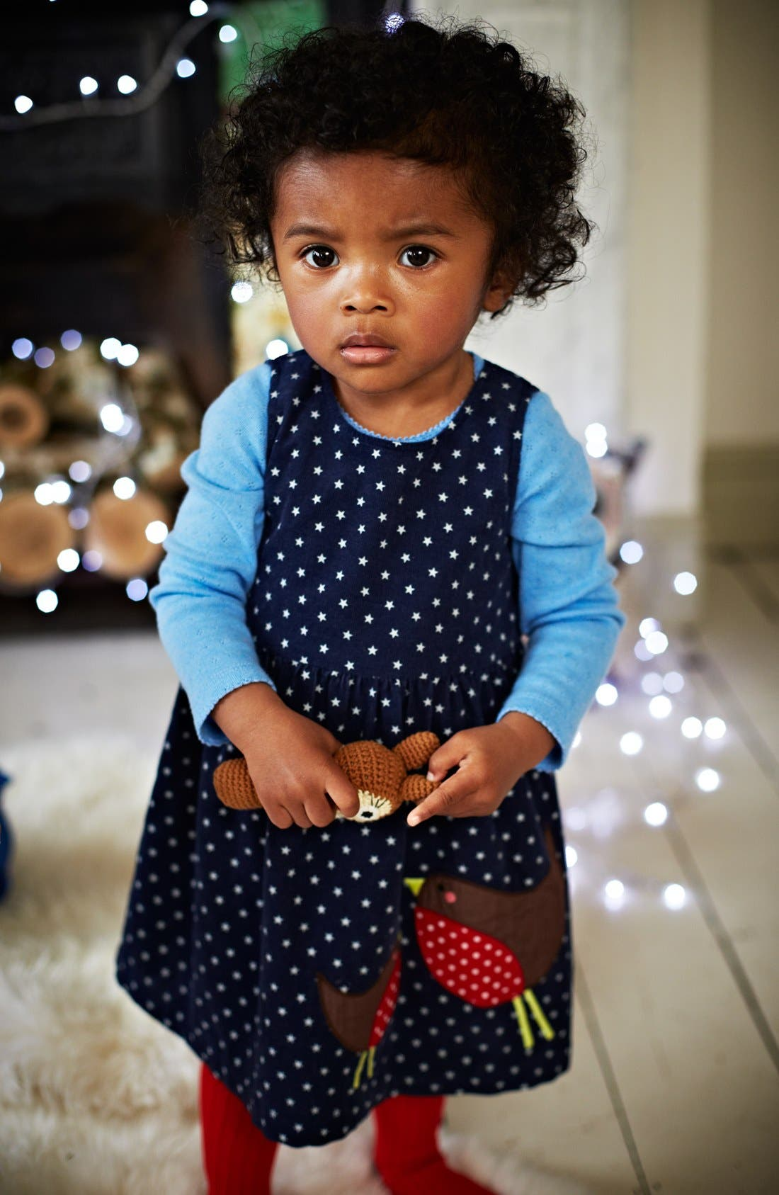 Alternate Image 2  - Mini Boden Appliqué Dress (Baby Girls)
