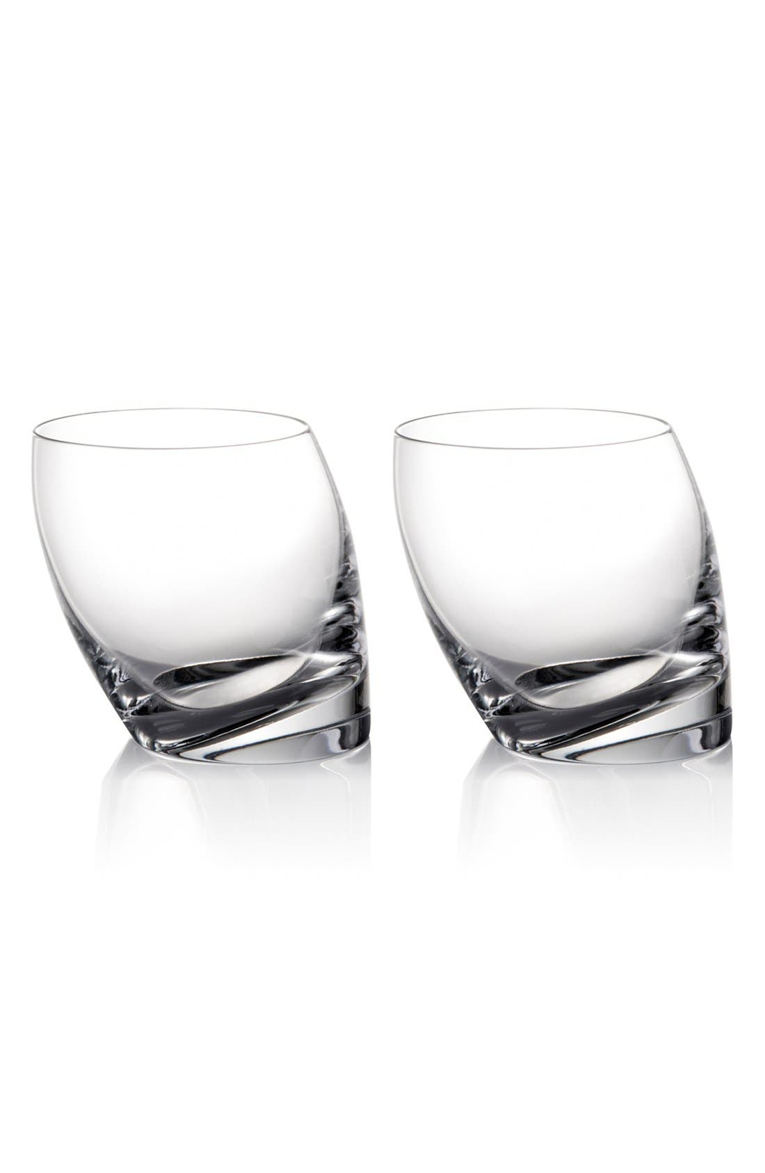 Alternate Image 1 Selected - Nambé 'Tilt' Double Old-Fashioned Glasses (Set of 2)