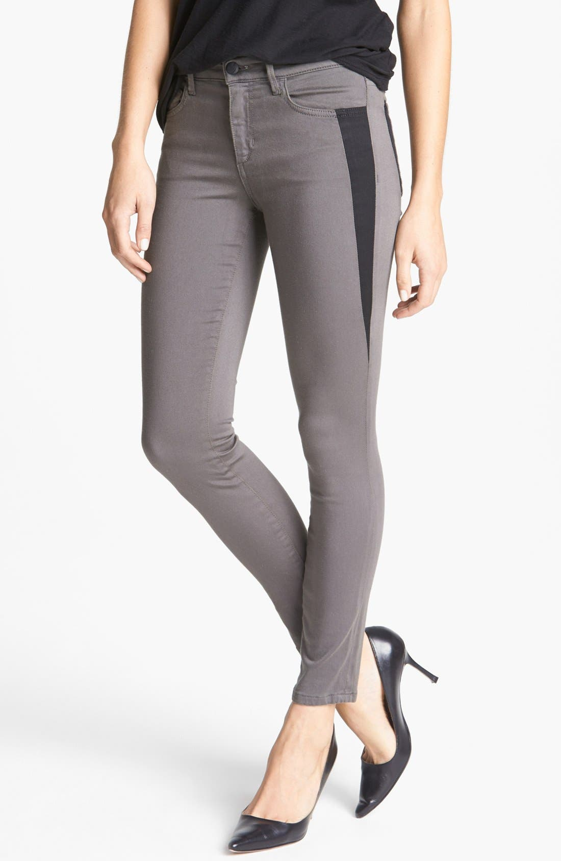 Alternate Image 1 Selected - Joe's 'Oblique' Skinny Ankle Jeans (Charcoal)