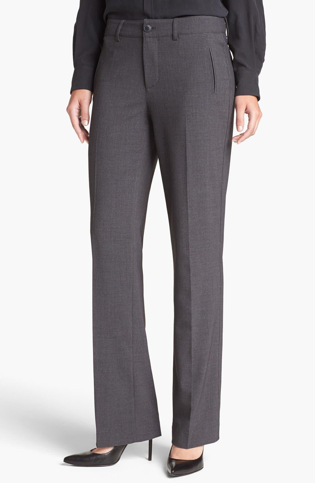 Alternate Image 1 Selected - NYDJ Stretch Straight Leg Trousers (Petite)
