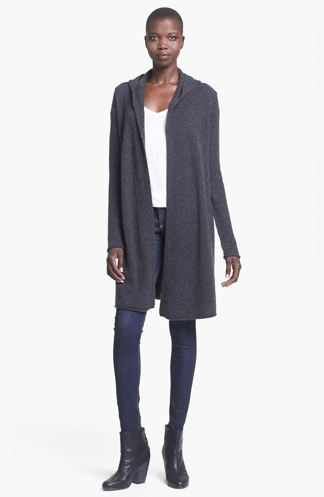 Main Image - autumn cashmere Hooded Cashmere Duster