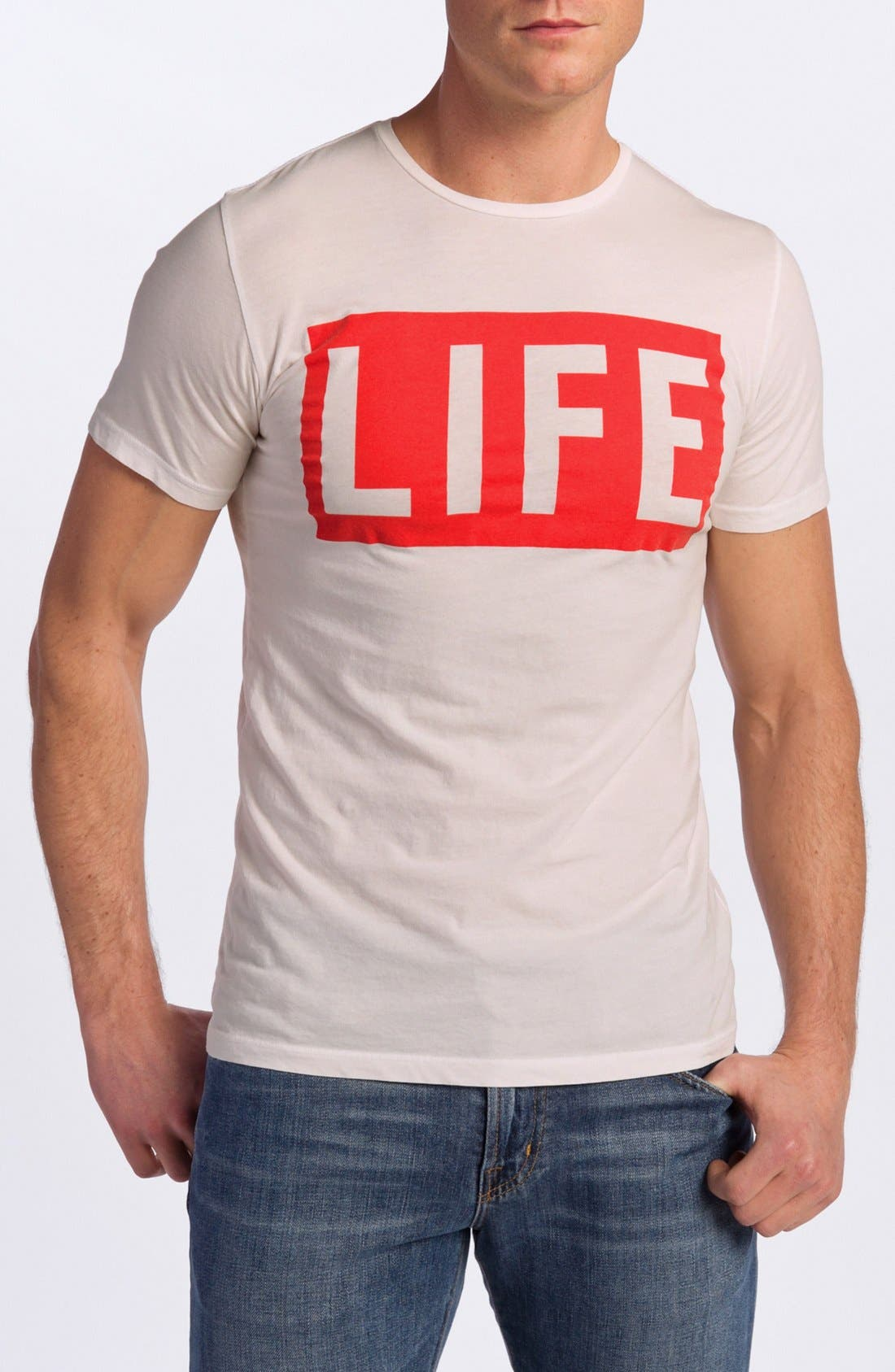 Main Image - Altru 'LIFE®' Graphic Crewneck T-Shirt