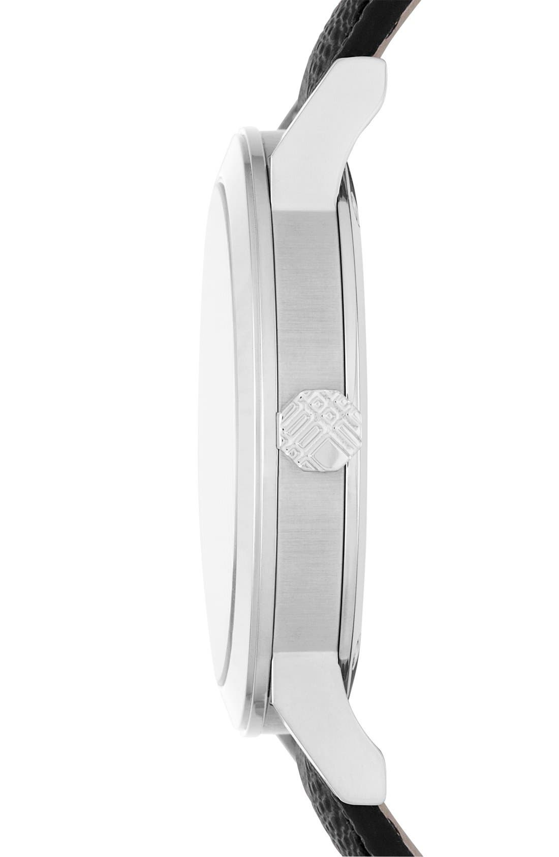 Alternate Image 4  - Burberry Check Stamped Round Dial Watch, 38mm