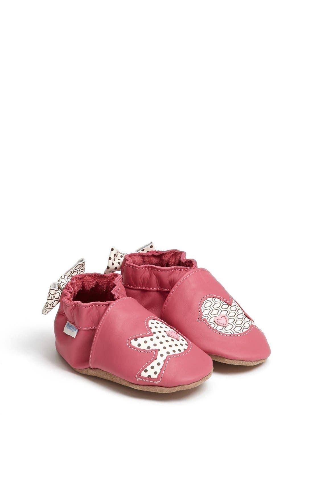 Alternate Image 1 Selected - Robeez® 'Tweetin' Birds' Crib Shoe (Baby & Walker)