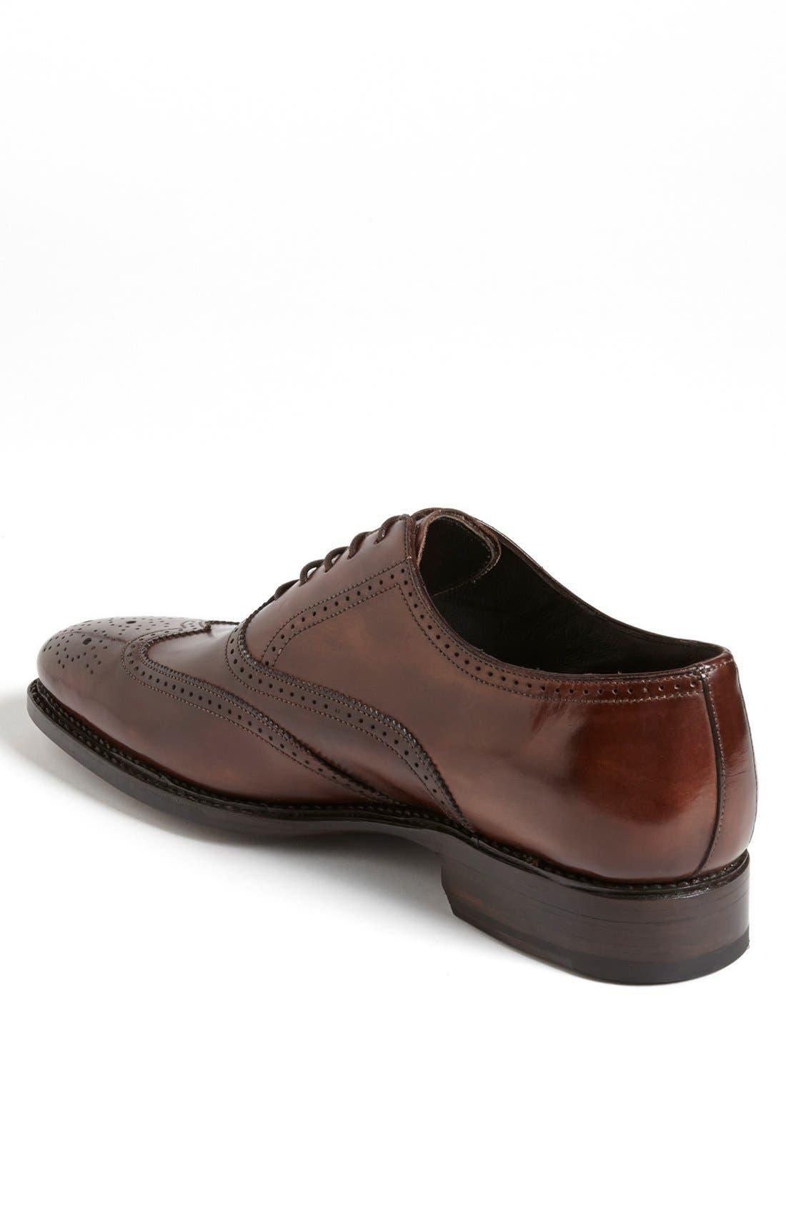 Alternate Image 2  - Canali Leather Wingtip (Men)