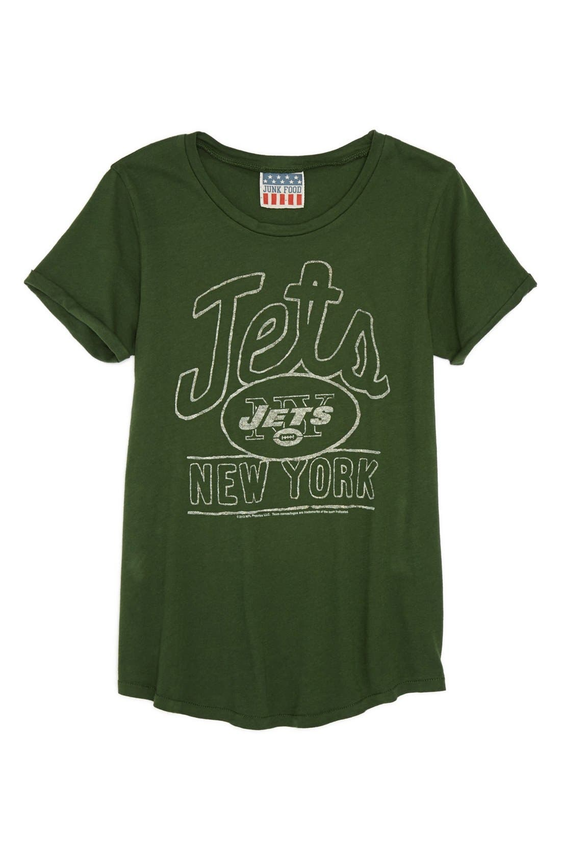 Alternate Image 1 Selected - Junk Food 'NFL - New York Jets' Tee (Big Girls)