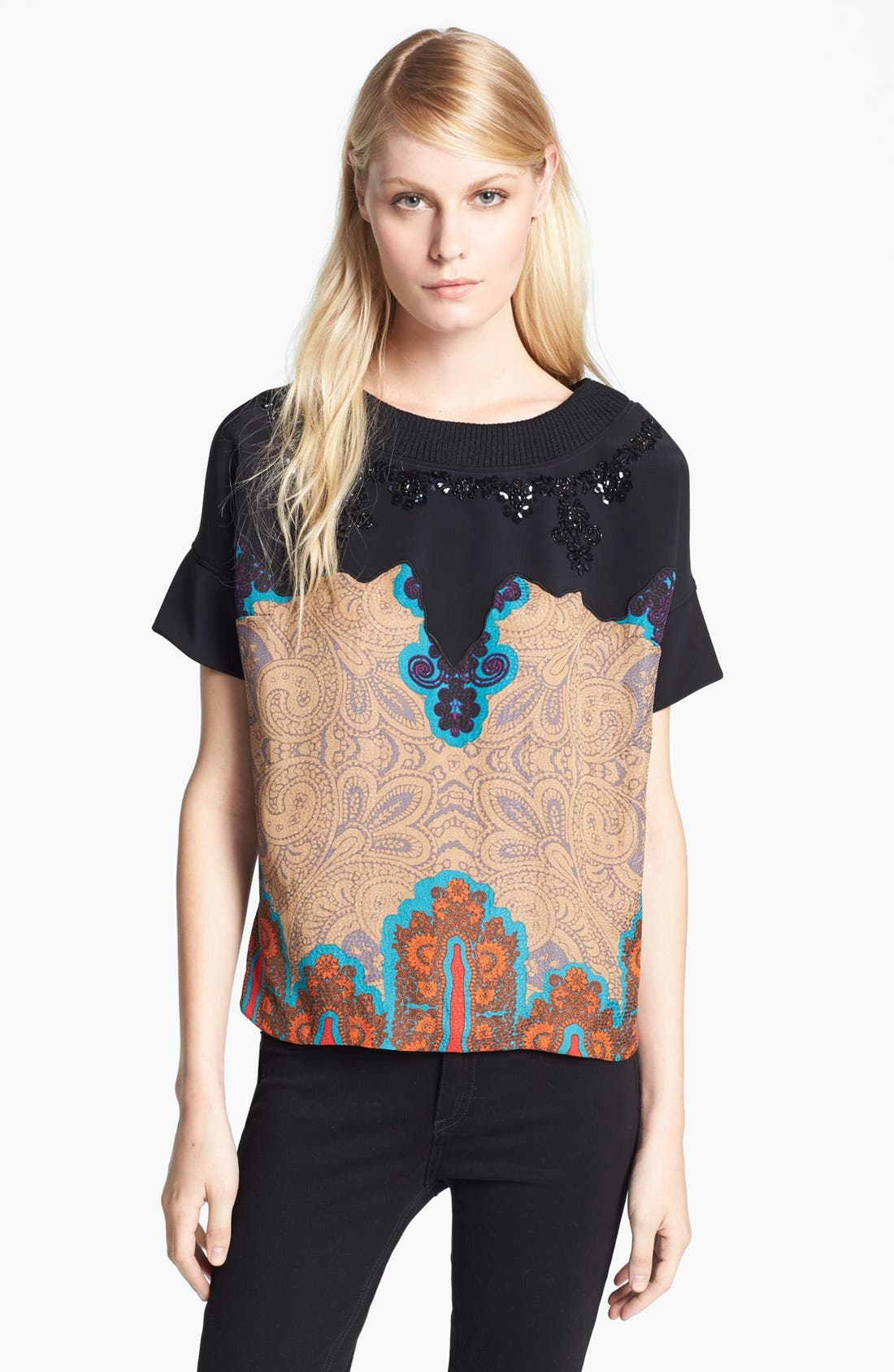 Alternate Image 1 Selected - Tracy Reese 'Medallion' Embellished Tee