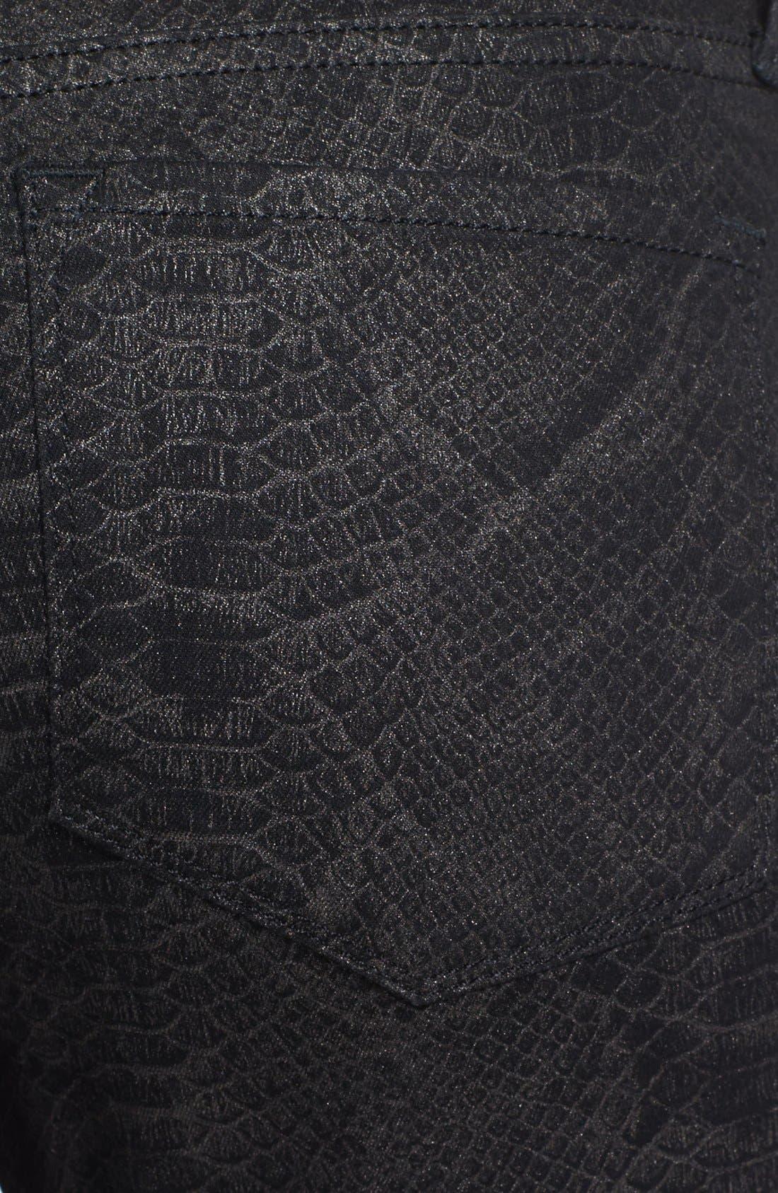 Alternate Image 3  - NYDJ 'Marilyn' Print Stretch Straight Leg Jeans (Metallic Snake)