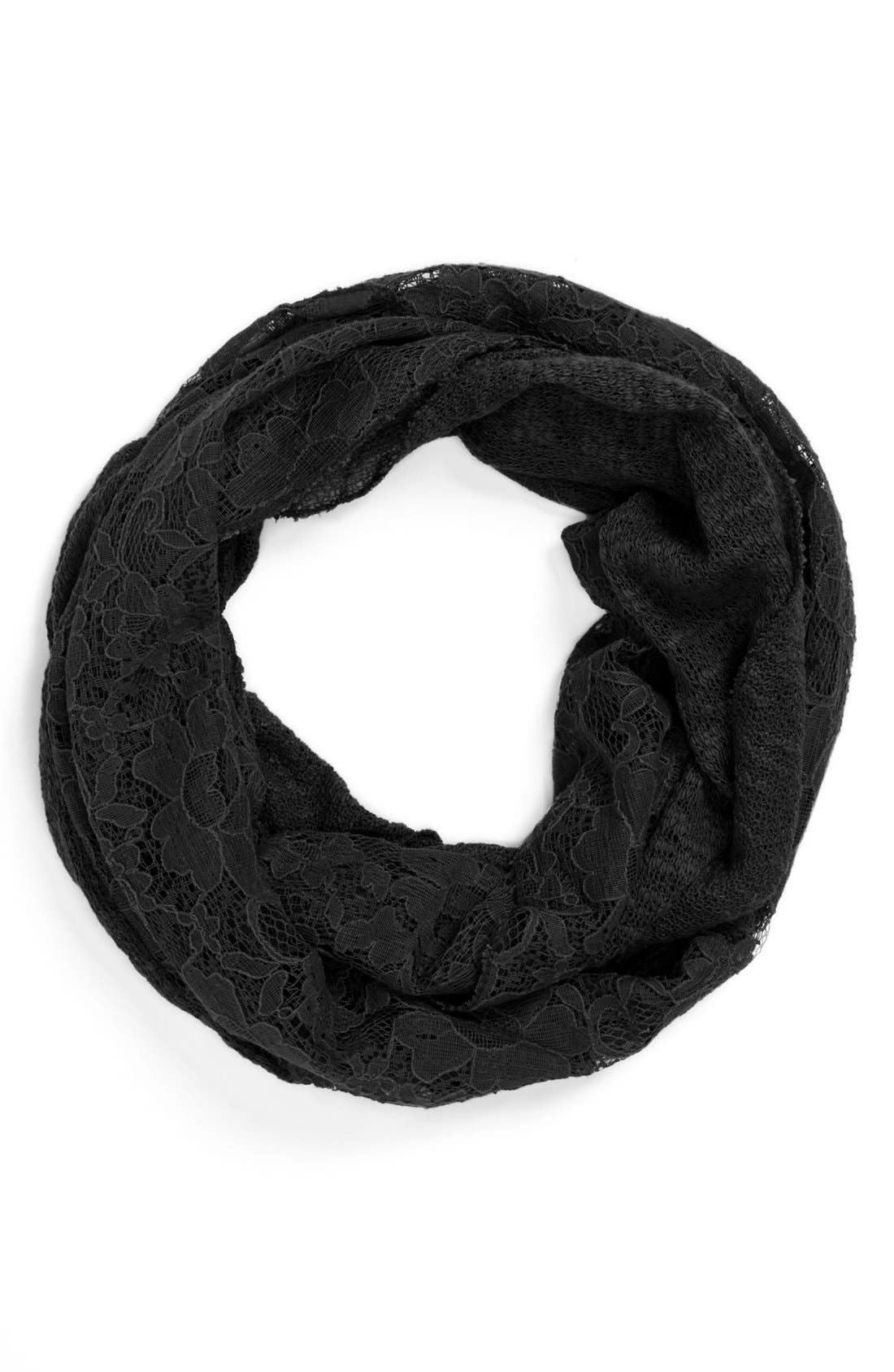 Alternate Image 1 Selected - David & Young Lace Infinity Scarf (Juniors)