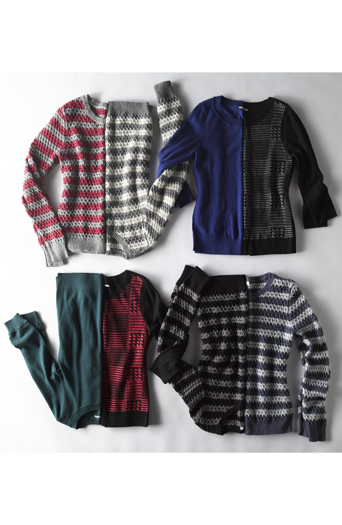 Alternate Image 4  - Caslon® Open Knit Stripe Sweater