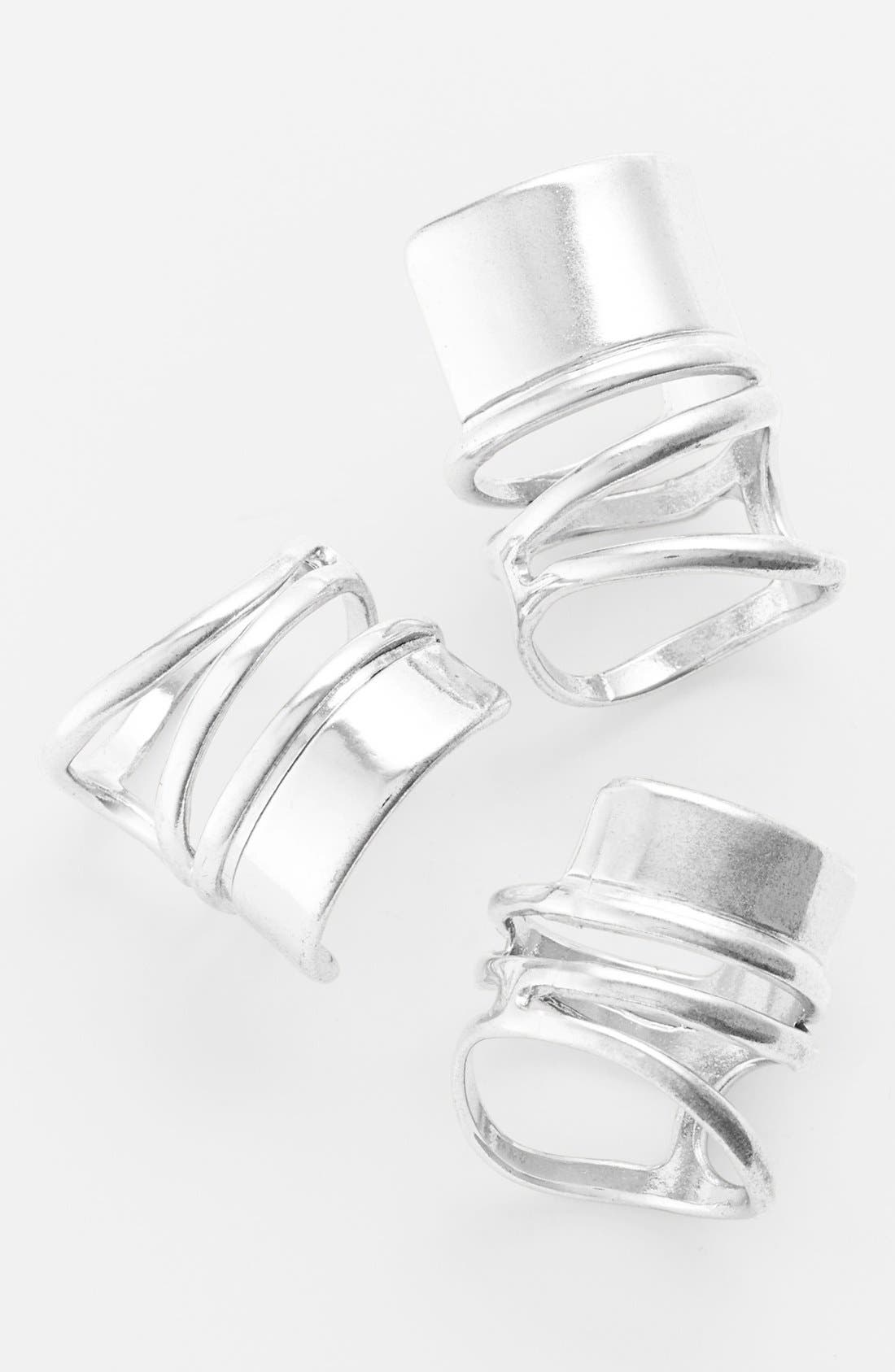 Alternate Image 1 Selected - Leith Bold Spiral Band Ring Set