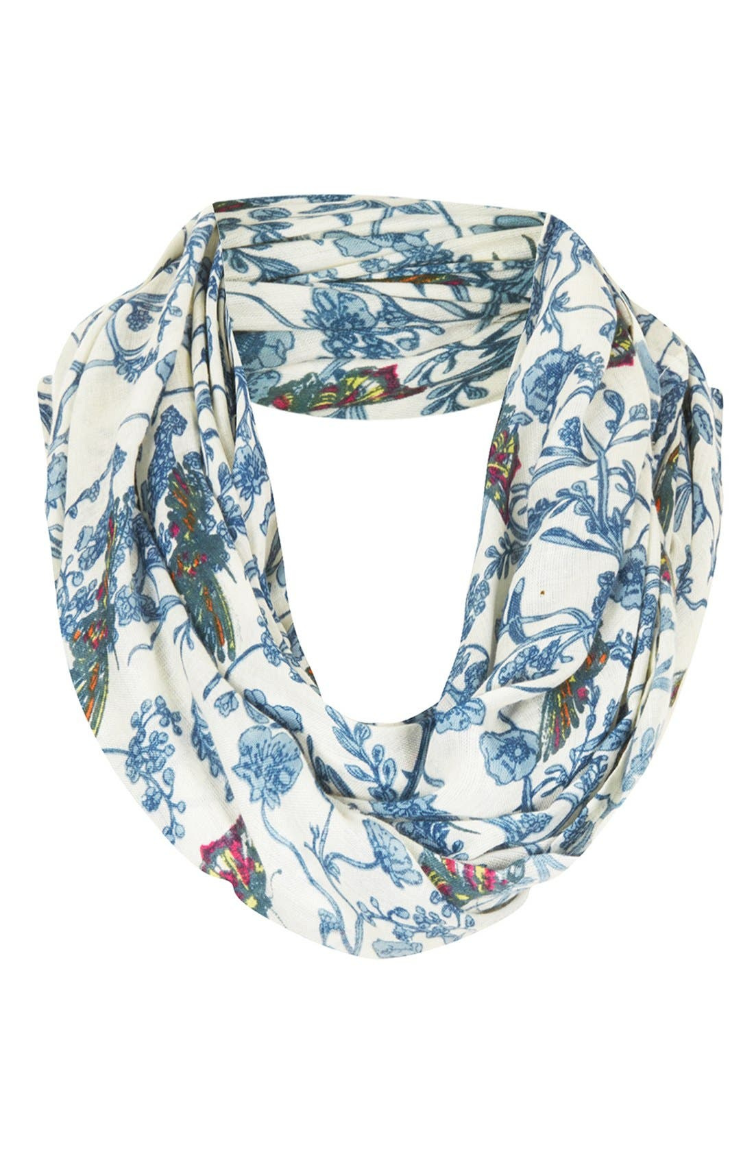 Alternate Image 1 Selected - Topshop 'Willow Bird' Infinity Scarf