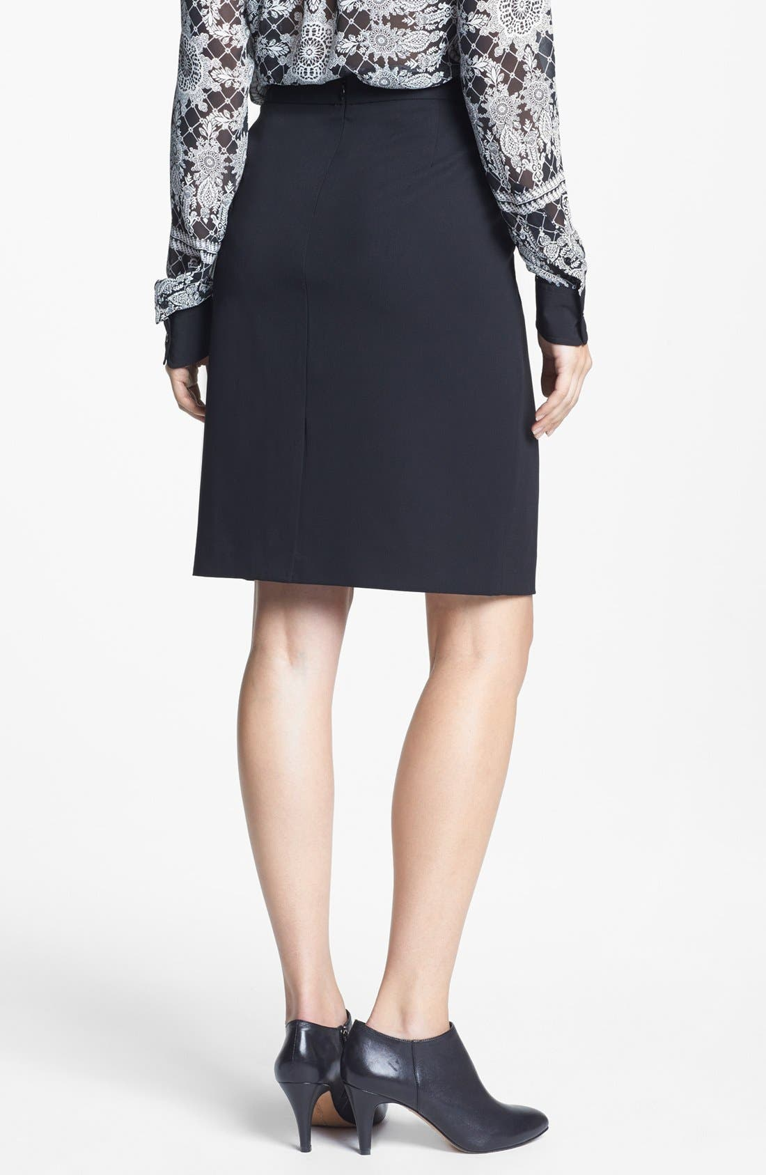 Alternate Image 2  - Chaus Stretch Knit Pencil Skirt