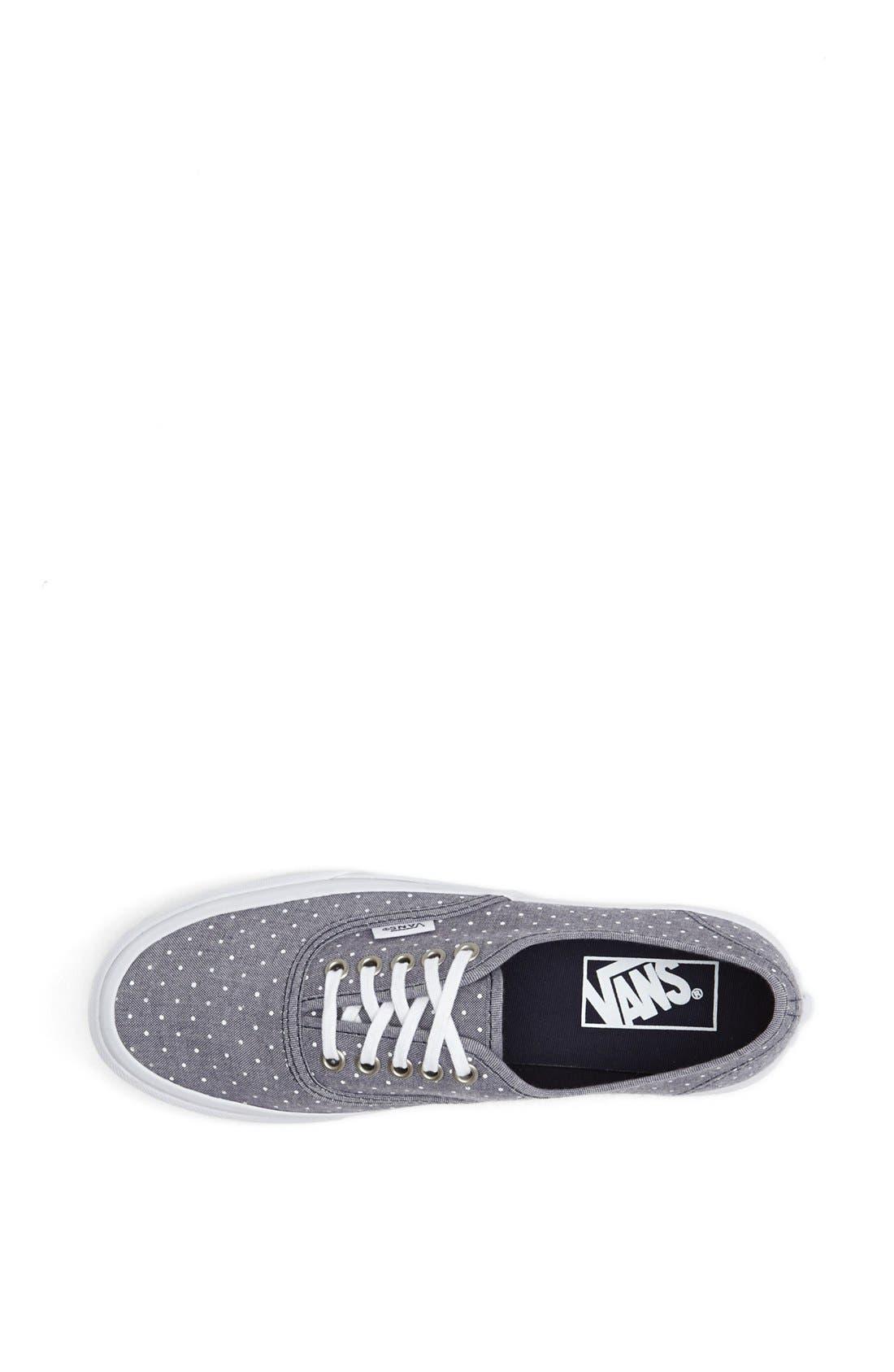 Alternate Image 3  - Vans 'Authentic - Slim' Polka Dot Sneaker (Women)