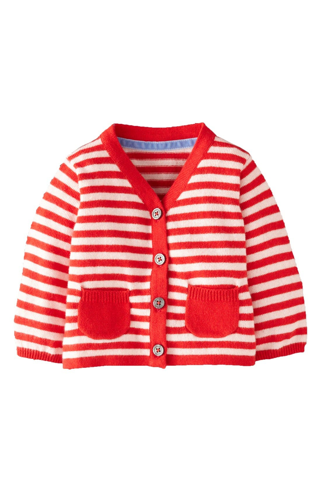 Alternate Image 1 Selected - Mini Boden 'Favorite' Cardigan (Baby Girls)