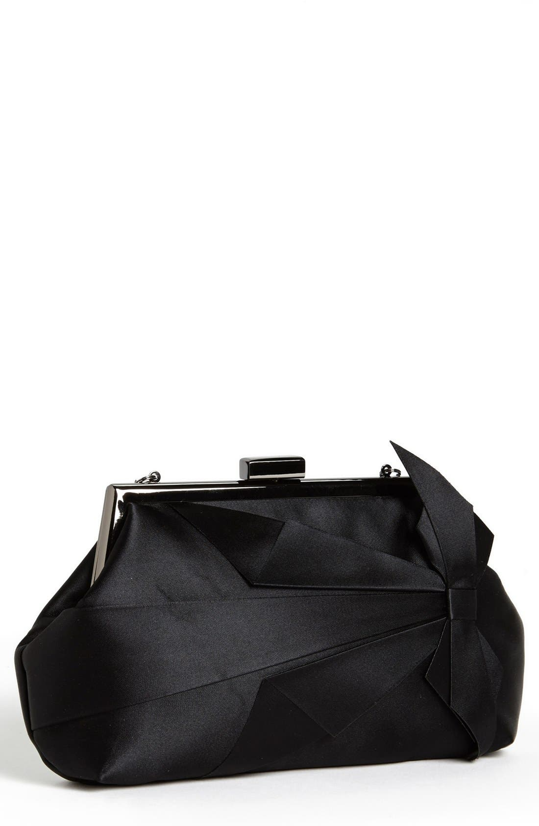 Alternate Image 1 Selected - Glint Satin Bow Clutch