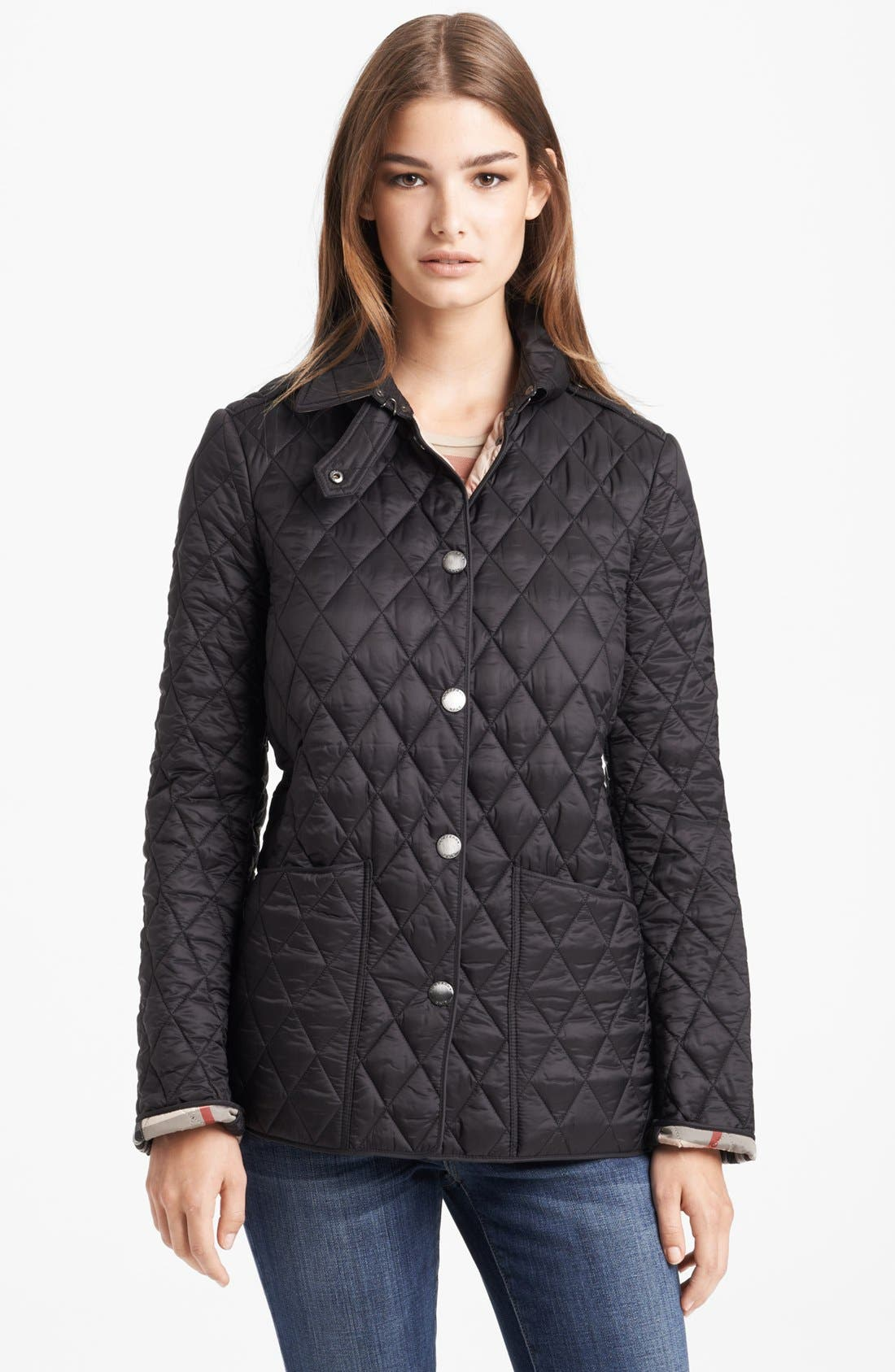 quilted x of cotton burberry lyst waxed quilt in photo men jacket for green mens