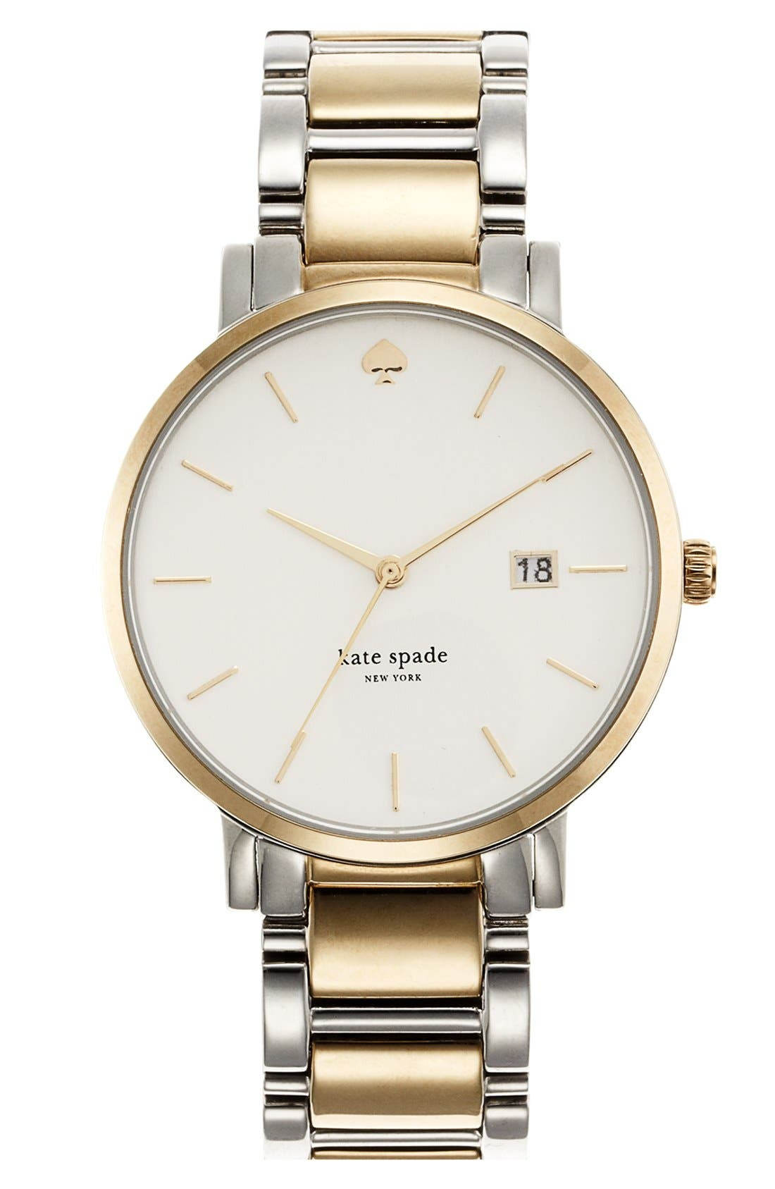 Main Image - kate spade new york 'gramercy grand' bracelet watch, 38mm