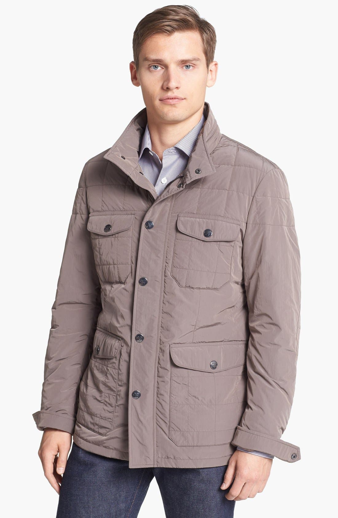 Main Image - Canali 'Tech' Quilted Italian Coat