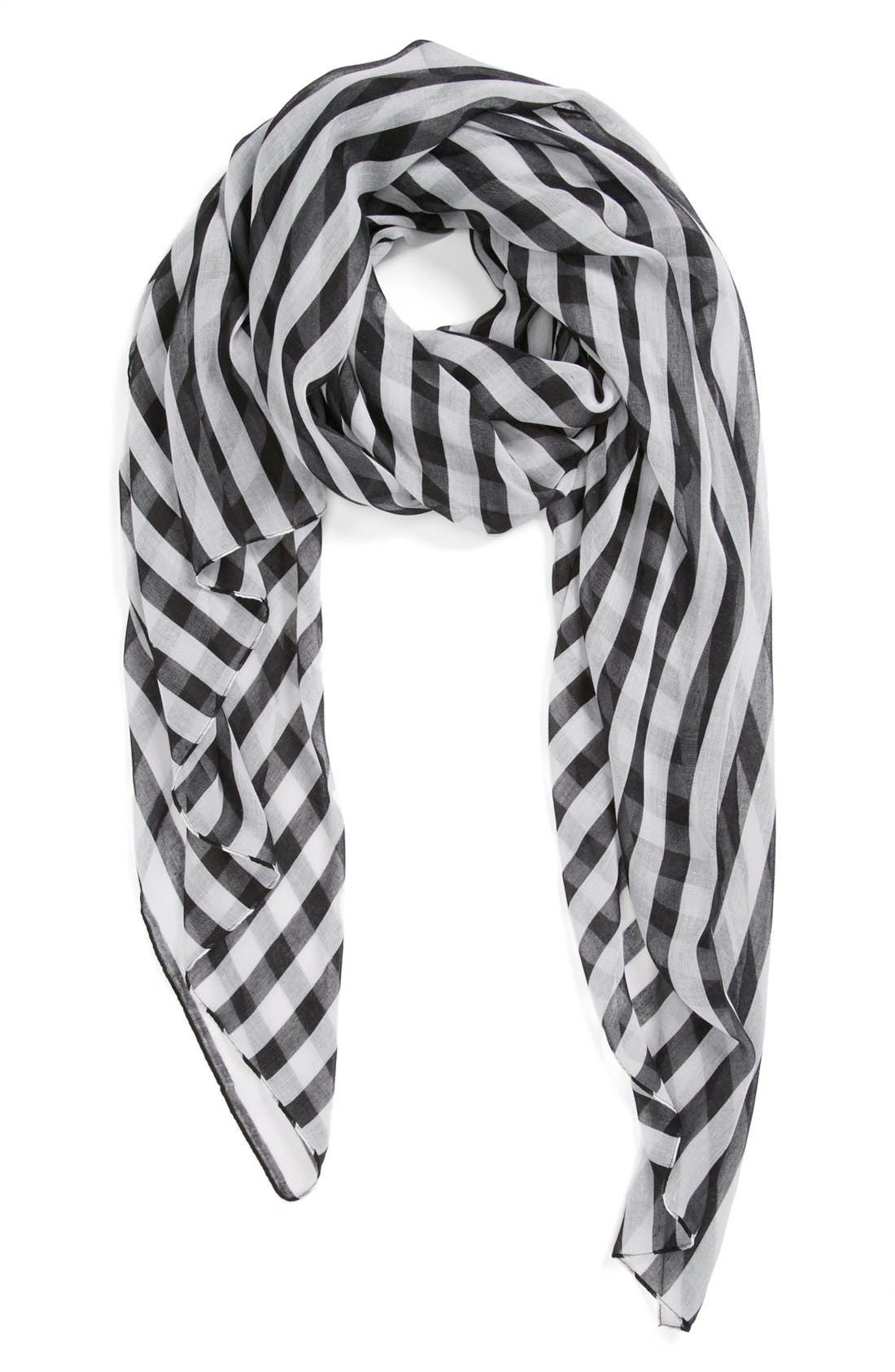 Main Image - BP. Stripe Scarf (Juniors)