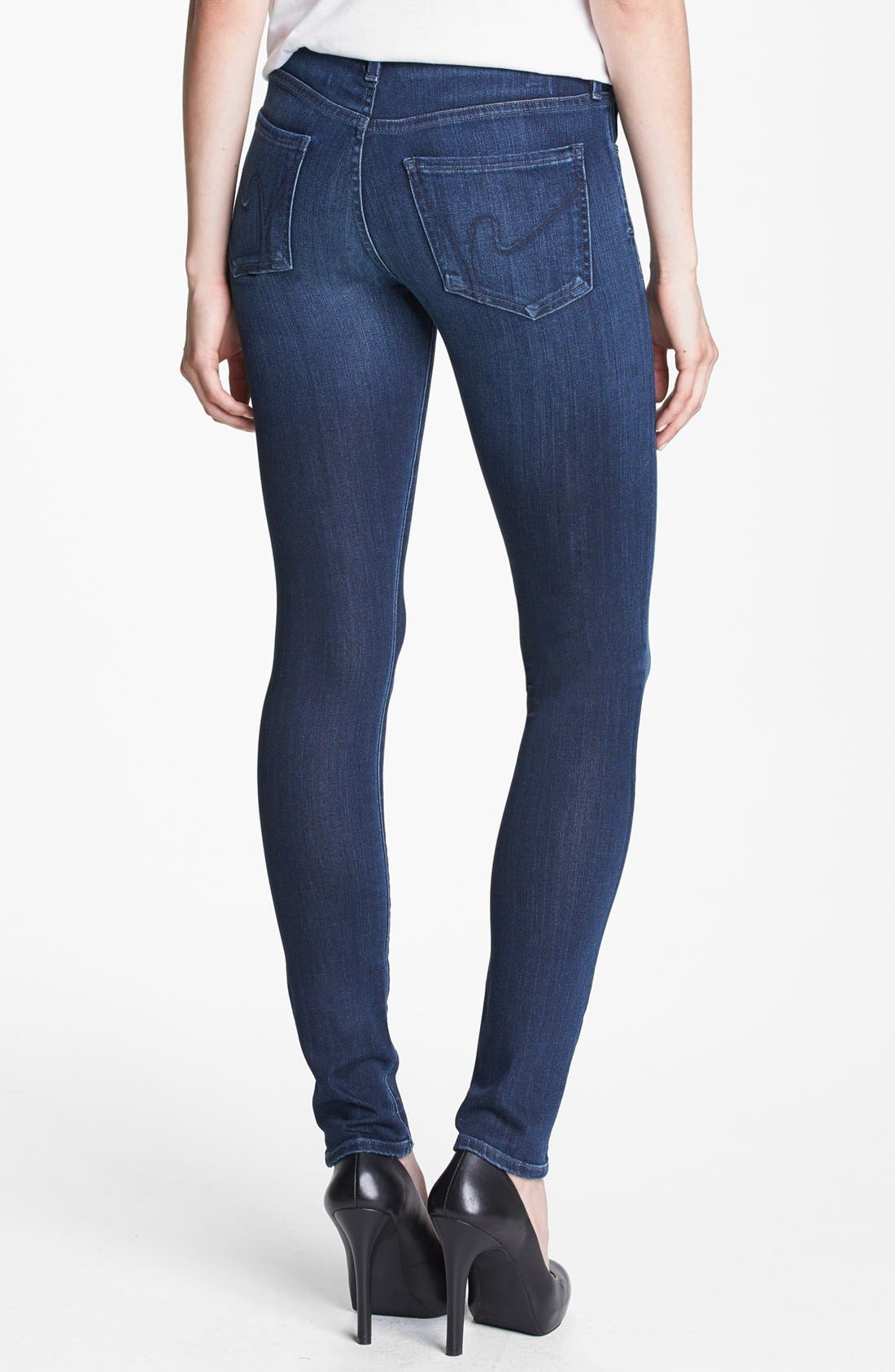 Alternate Image 2  - Citizens of Humanity Skinny Jeans (Omni D Blue)