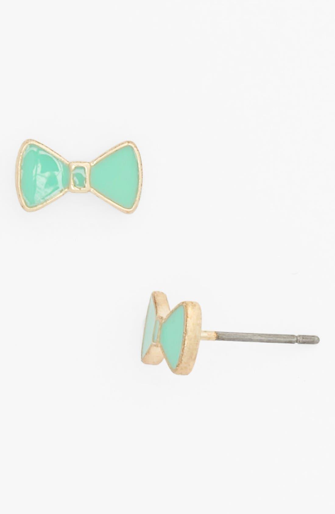 Alternate Image 1 Selected - Rachel Enamel Bow Stud Earrings (Juniors) (Online Only)