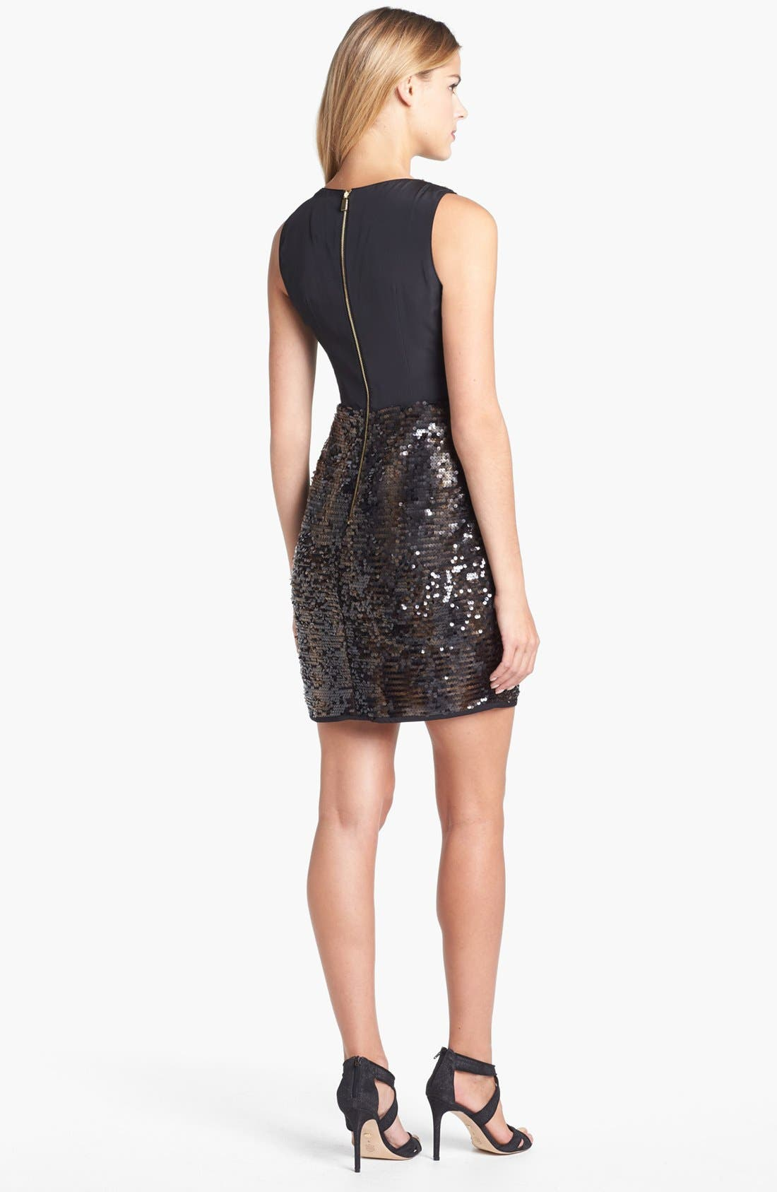 Alternate Image 2  - Vince Camuto Sequin Dress