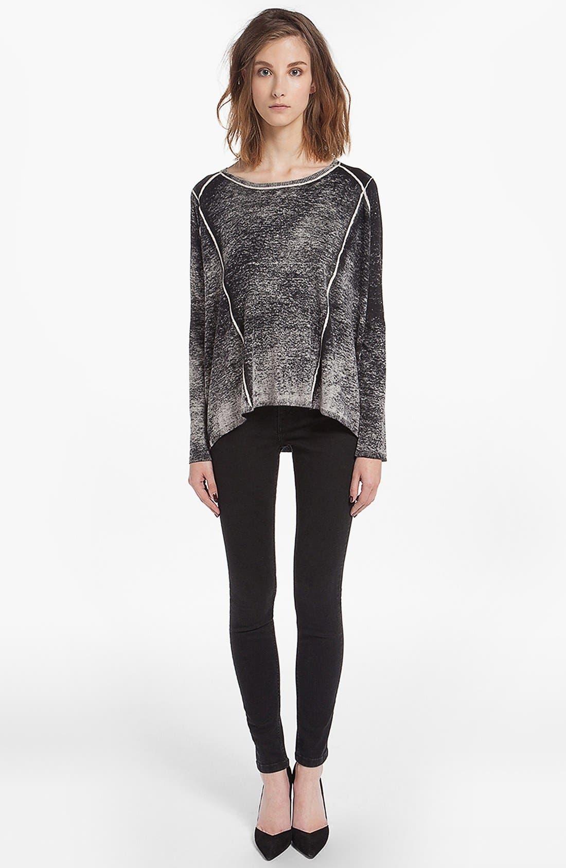 Main Image - maje 'Derbie' Silk Blend Sweater
