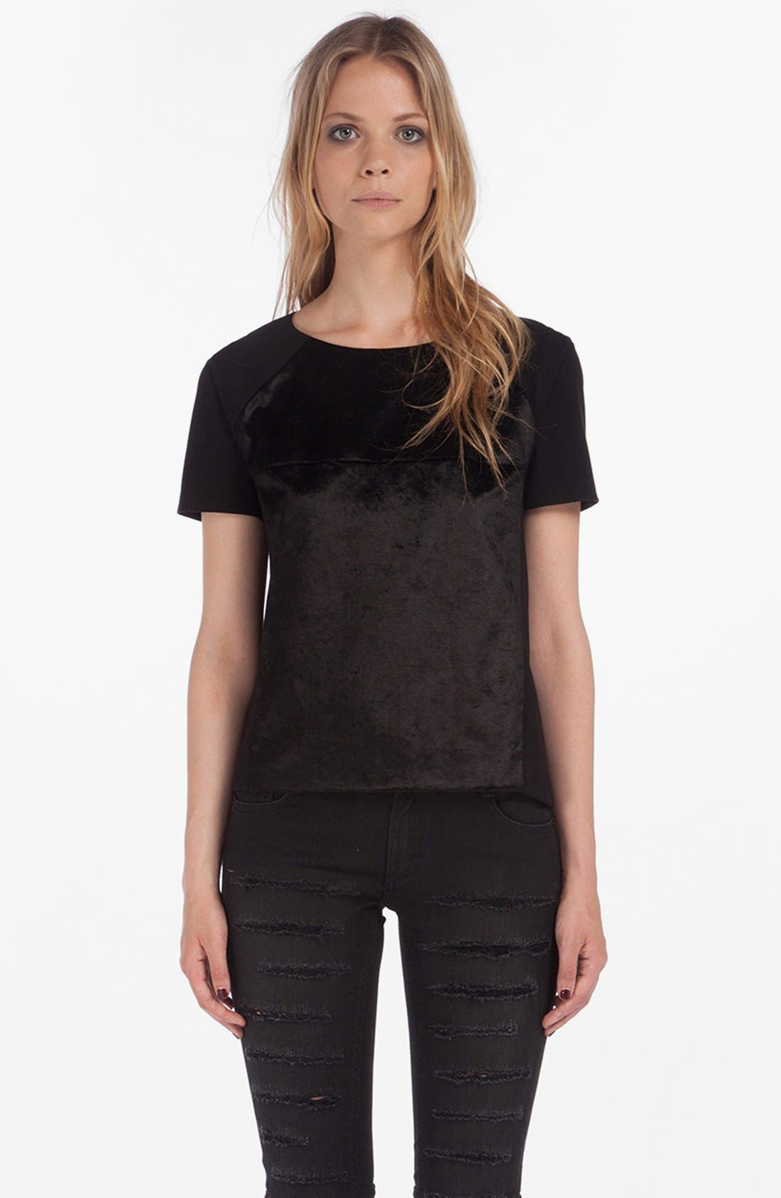 'Dioxine' Coated Top,                         Main,                         color, Noir