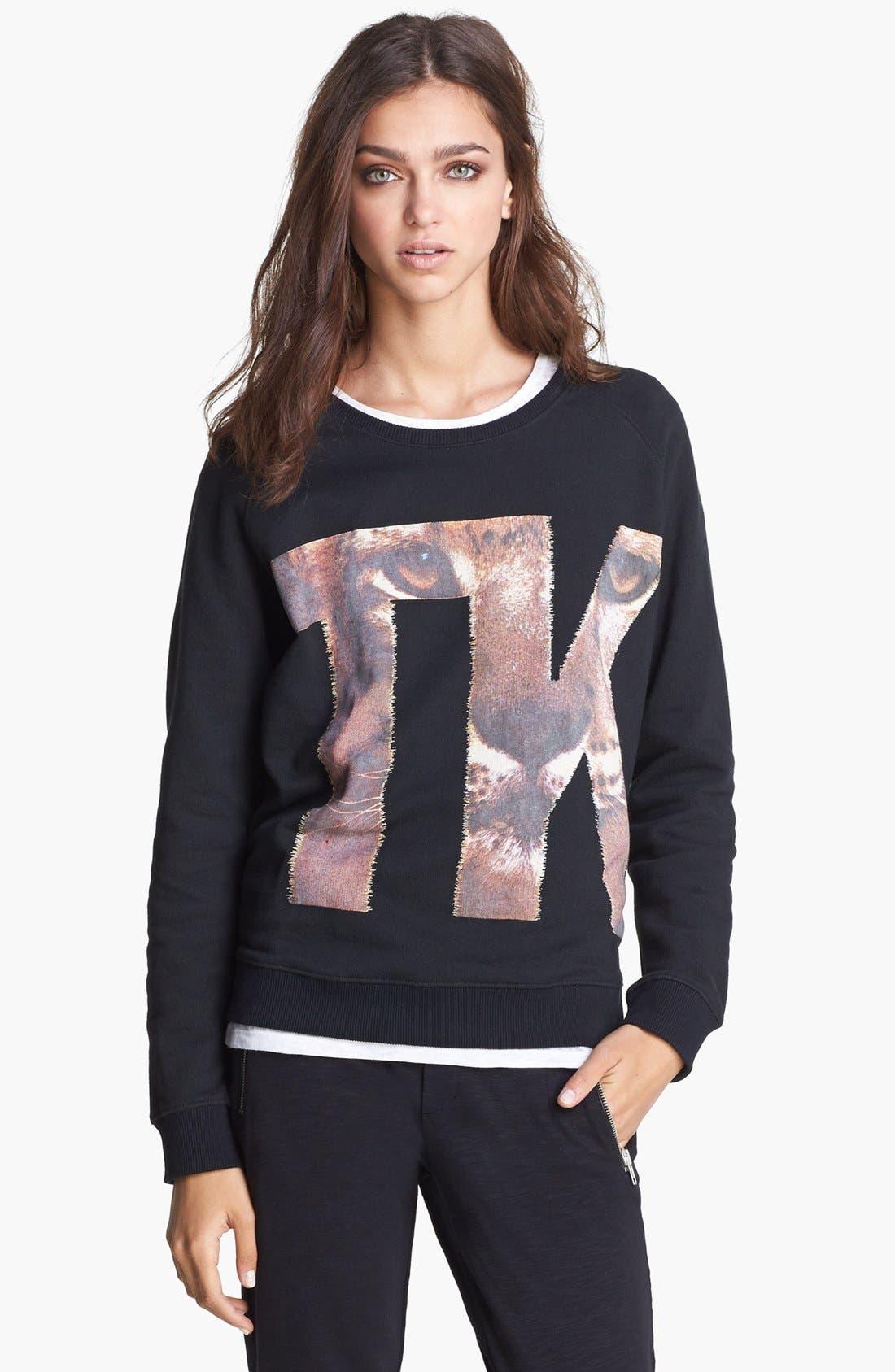 Alternate Image 1 Selected - The Kooples Logo Sweatshirt