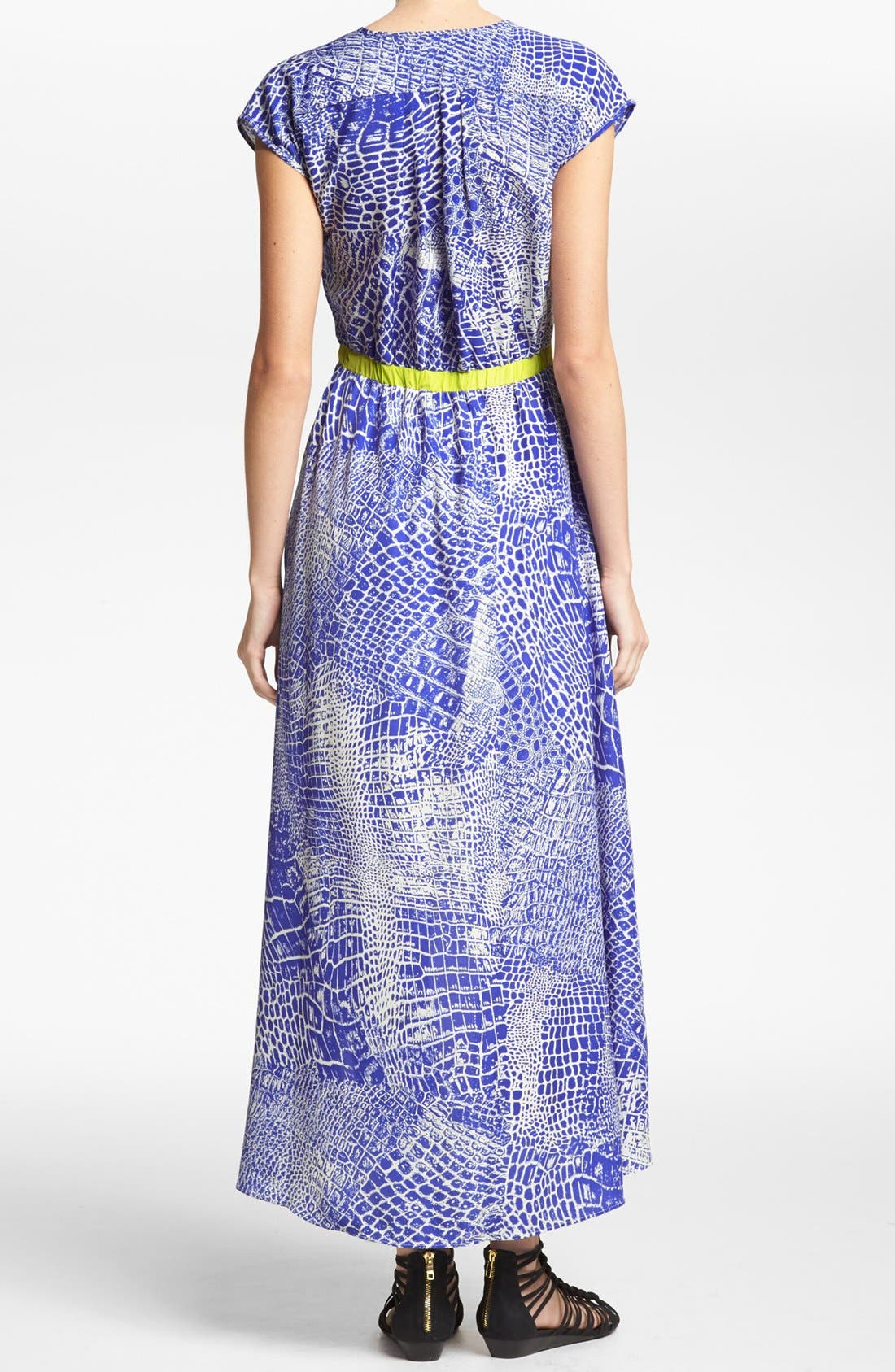 Alternate Image 2  - MM Couture Print High/Low Dress