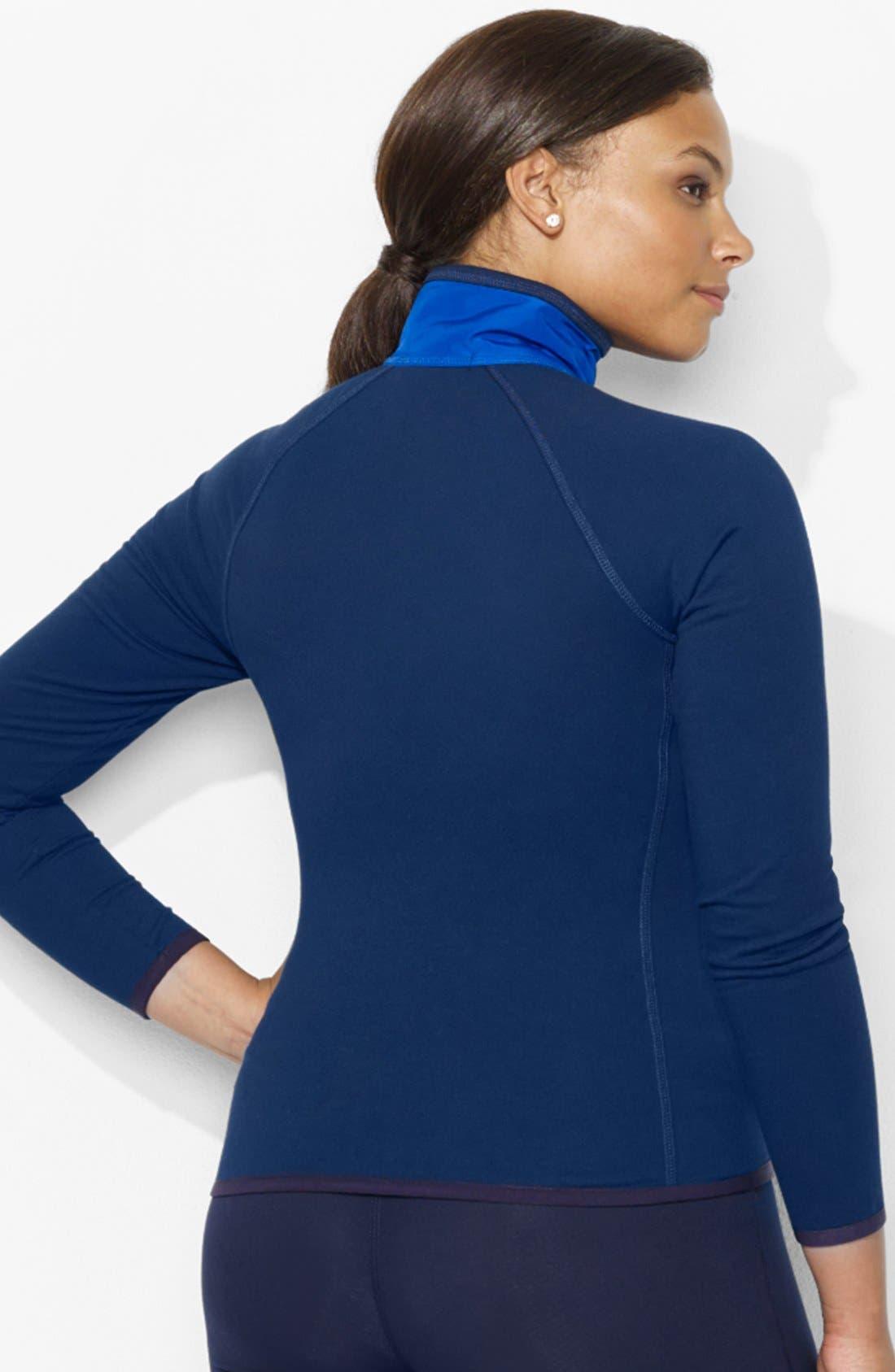 Alternate Image 2  - Lauren Ralph Lauren Woven Front Track Jacket (Plus Size)