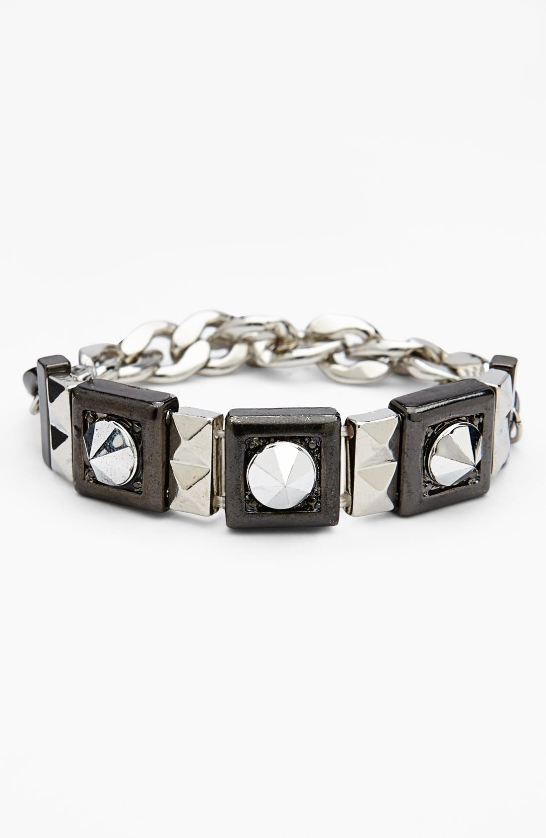 Alternate Image 1 Selected - Topshop Studded Chain Stretch Bracelet