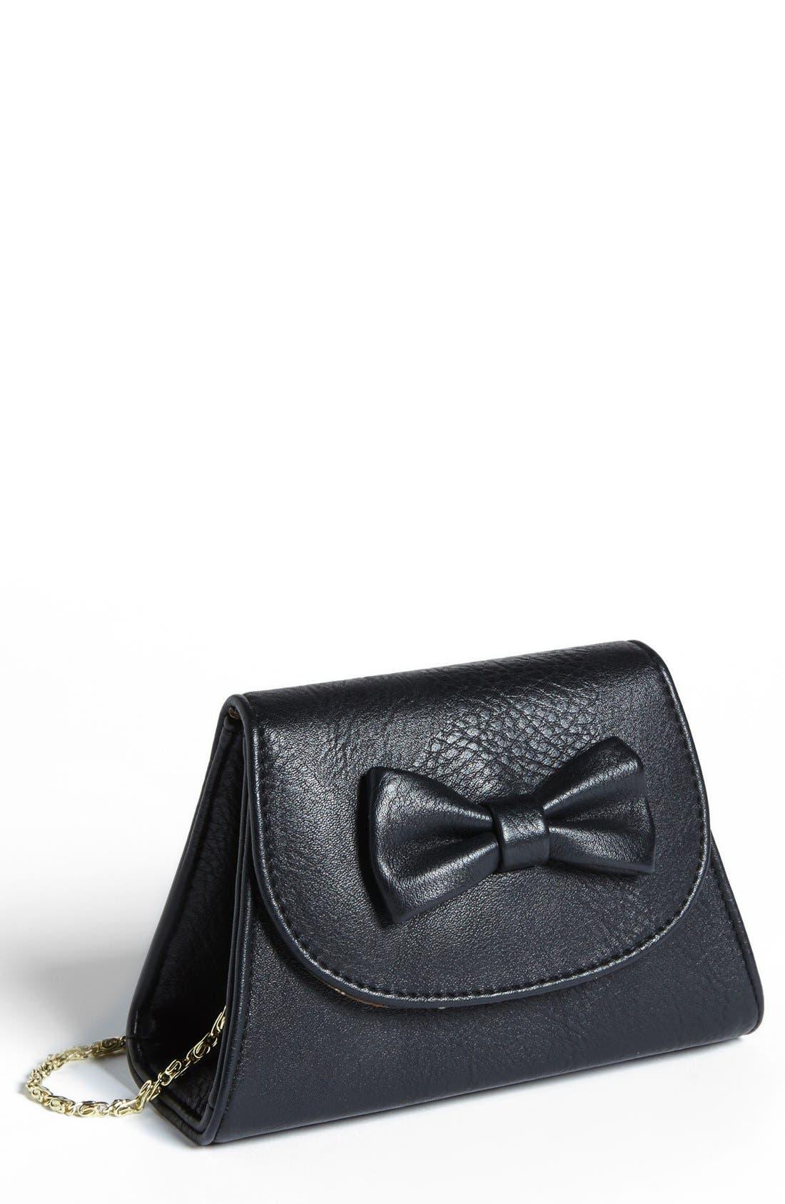 Alternate Image 1 Selected - Lulu Bow Detail Mini Crossbody Bag (Juniors)