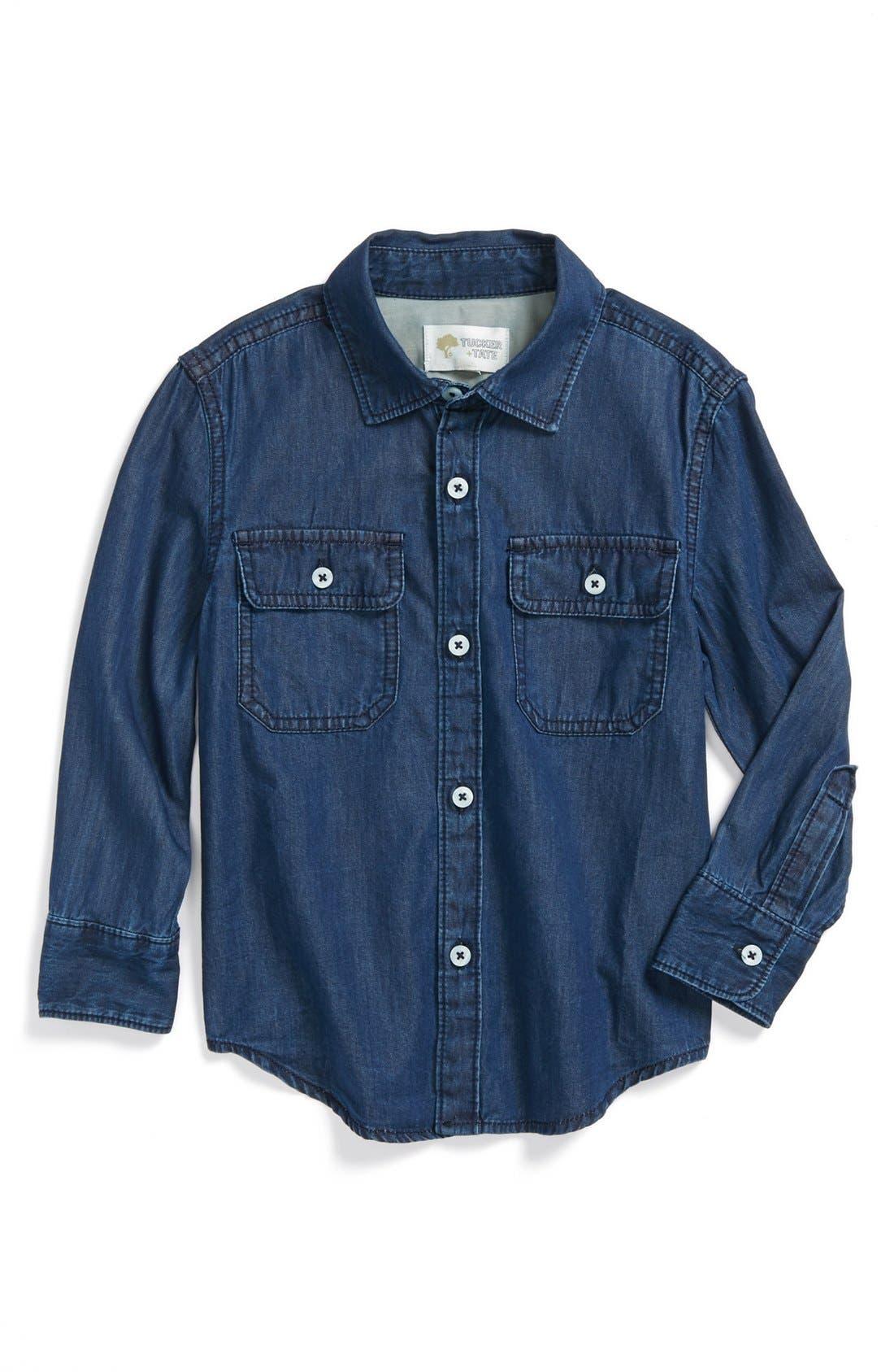 Alternate Image 1 Selected - Tucker + Tate 'Anker' Denim Shirt (Toddler Boys)