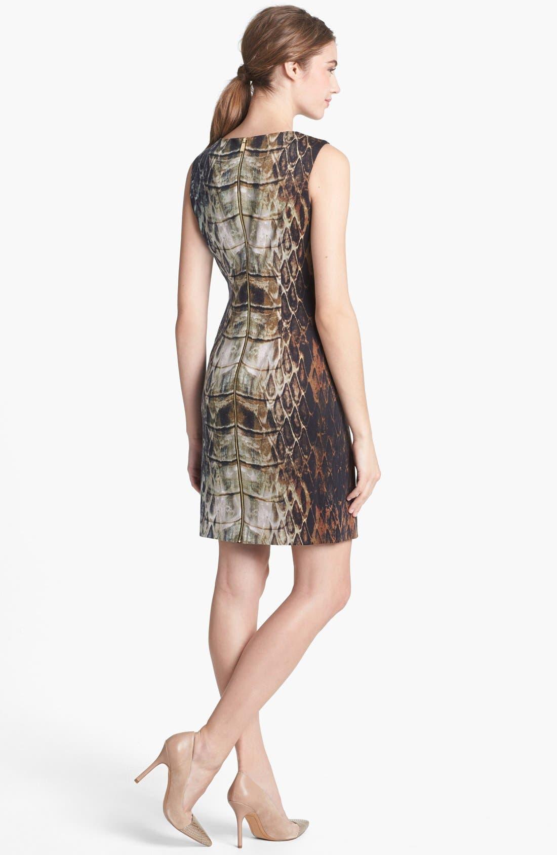 Alternate Image 2  - Vince Camuto Snake Print Sheath Dress
