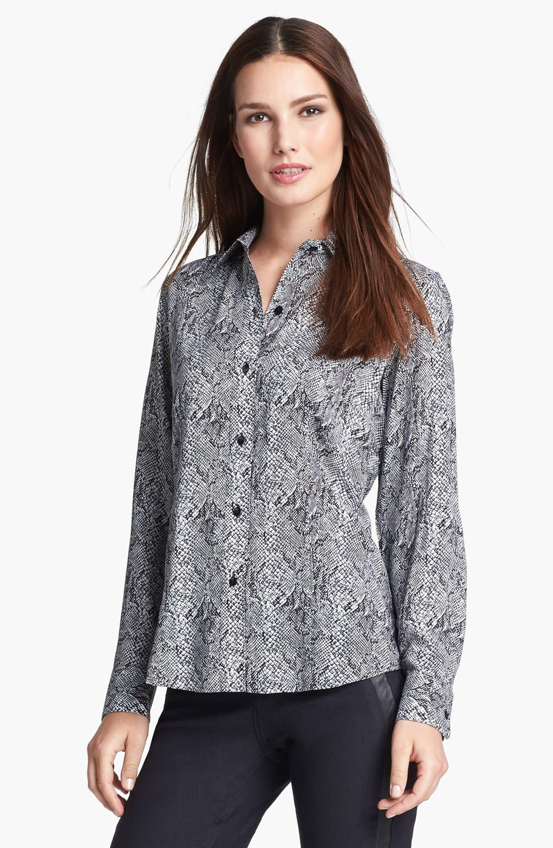 Alternate Image 1 Selected - Foxcroft 'Silver Snake' Shirt (Petite)
