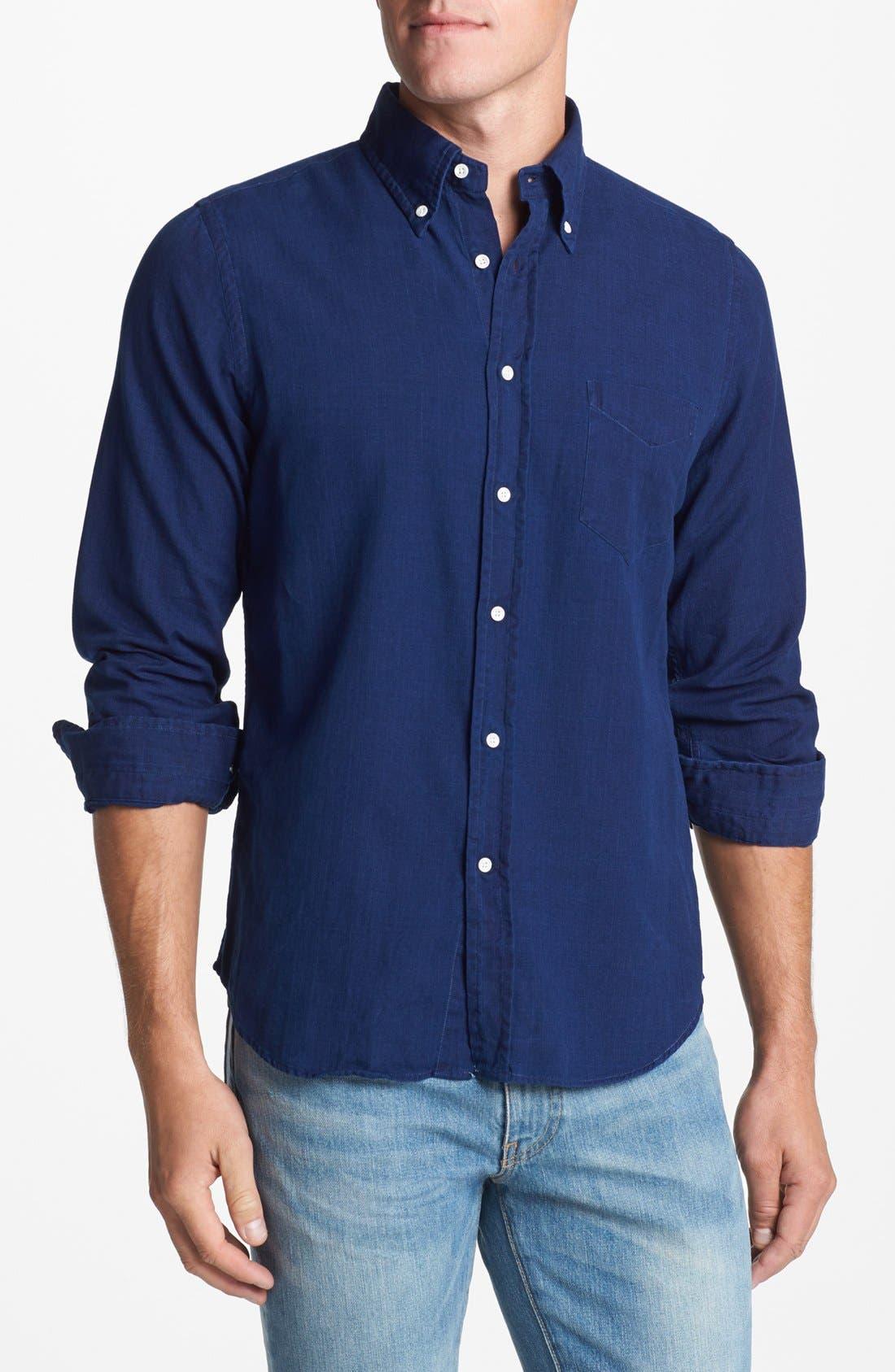 Alternate Image 1 Selected - Gant Rugger Indigo Oxford Shirt